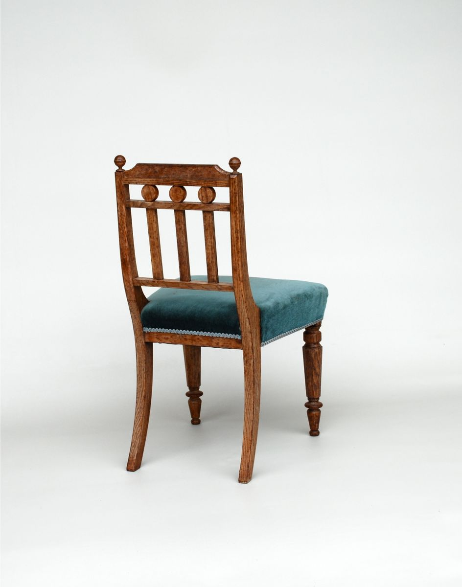Antique oak dining chairs set of 6 for sale at pamono for Oak dining chairs