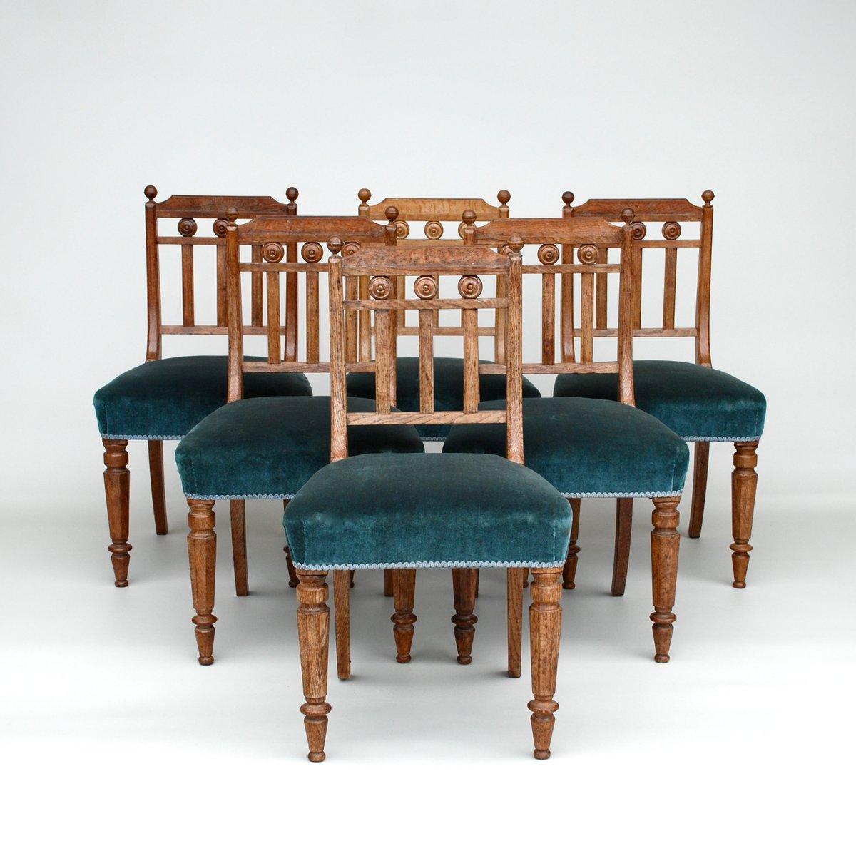 antike esszimmerst hle aus eiche 6er set bei pamono kaufen. Black Bedroom Furniture Sets. Home Design Ideas