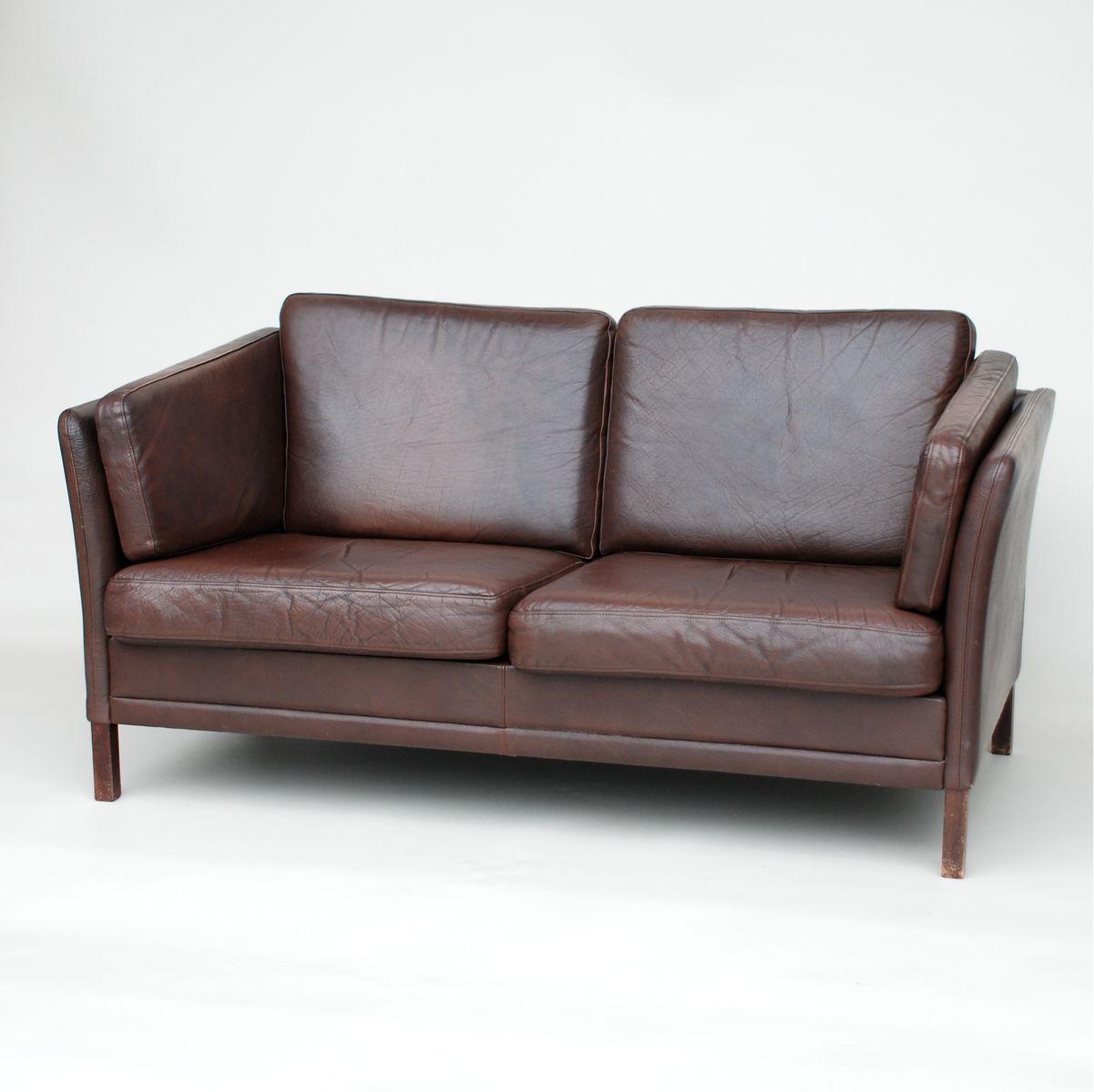 Danish Dark Brown Leather Sofa 1970s For Sale At Pamono