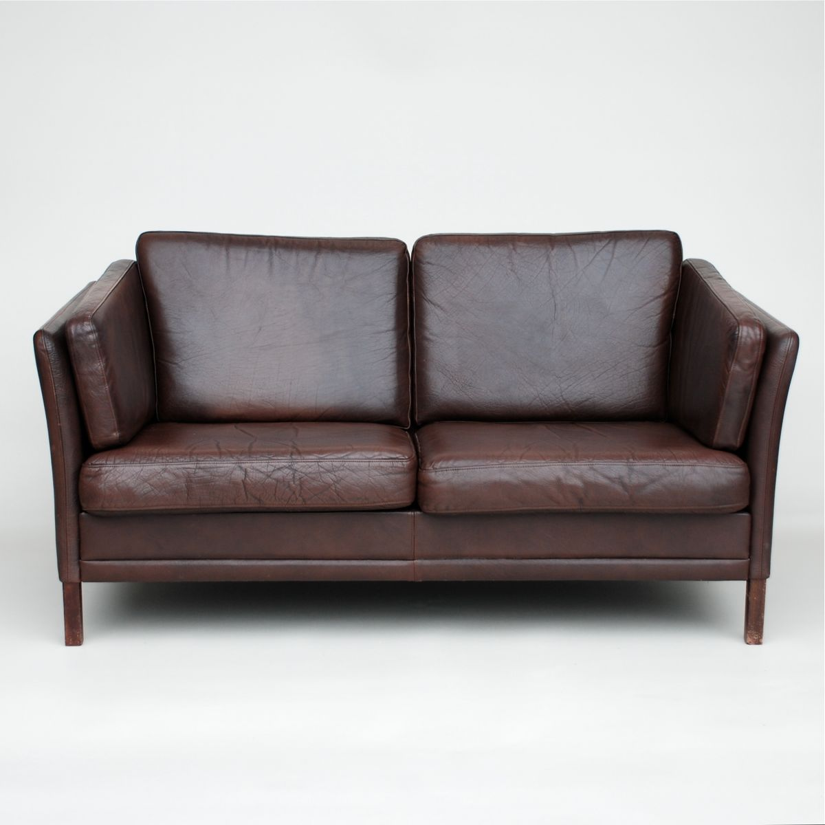 Danish Dark Brown Leather Sofa 1970s For Sale At Pamono