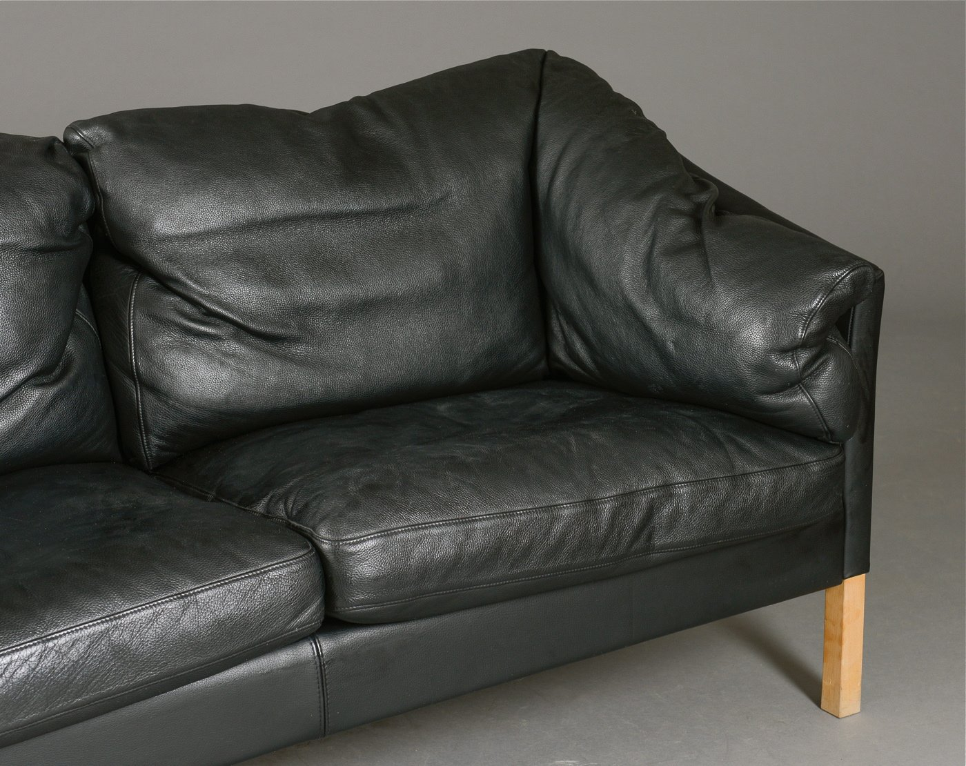 Danish Black Leather Sofa 1980s For Sale At Pamono