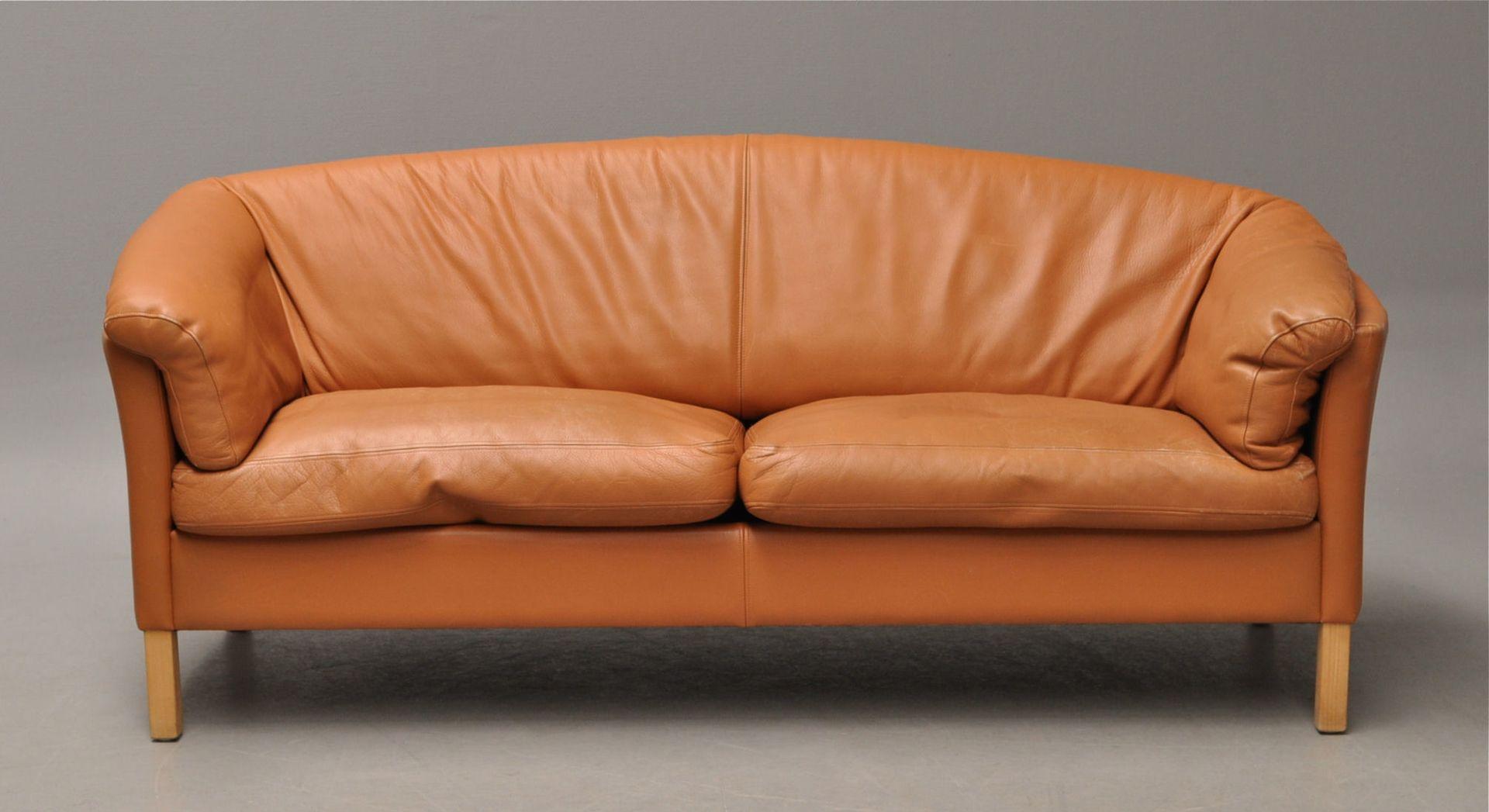 Leder sofa von mogens hansen 1980er bei pamono kaufen for Sofa 80 tief