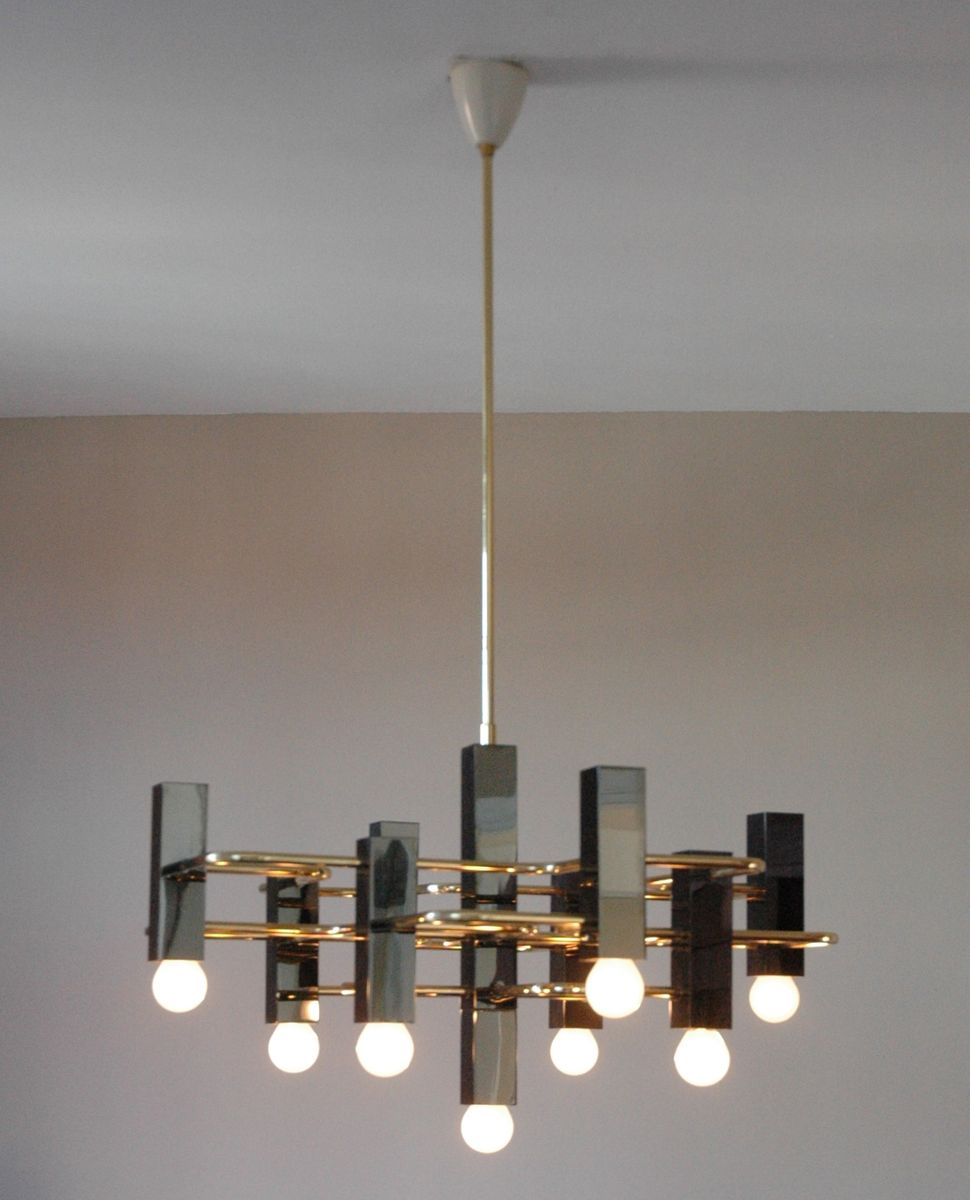 vintage chandelier from boulanger en vente sur pamono. Black Bedroom Furniture Sets. Home Design Ideas