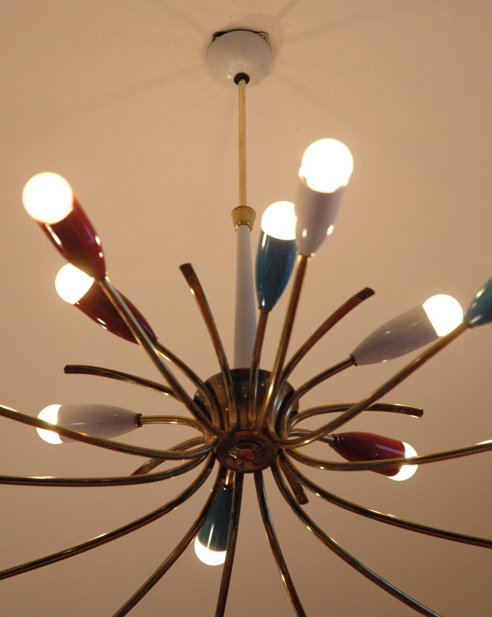 vintage italian chandelier 1950s for sale at pamono. Black Bedroom Furniture Sets. Home Design Ideas