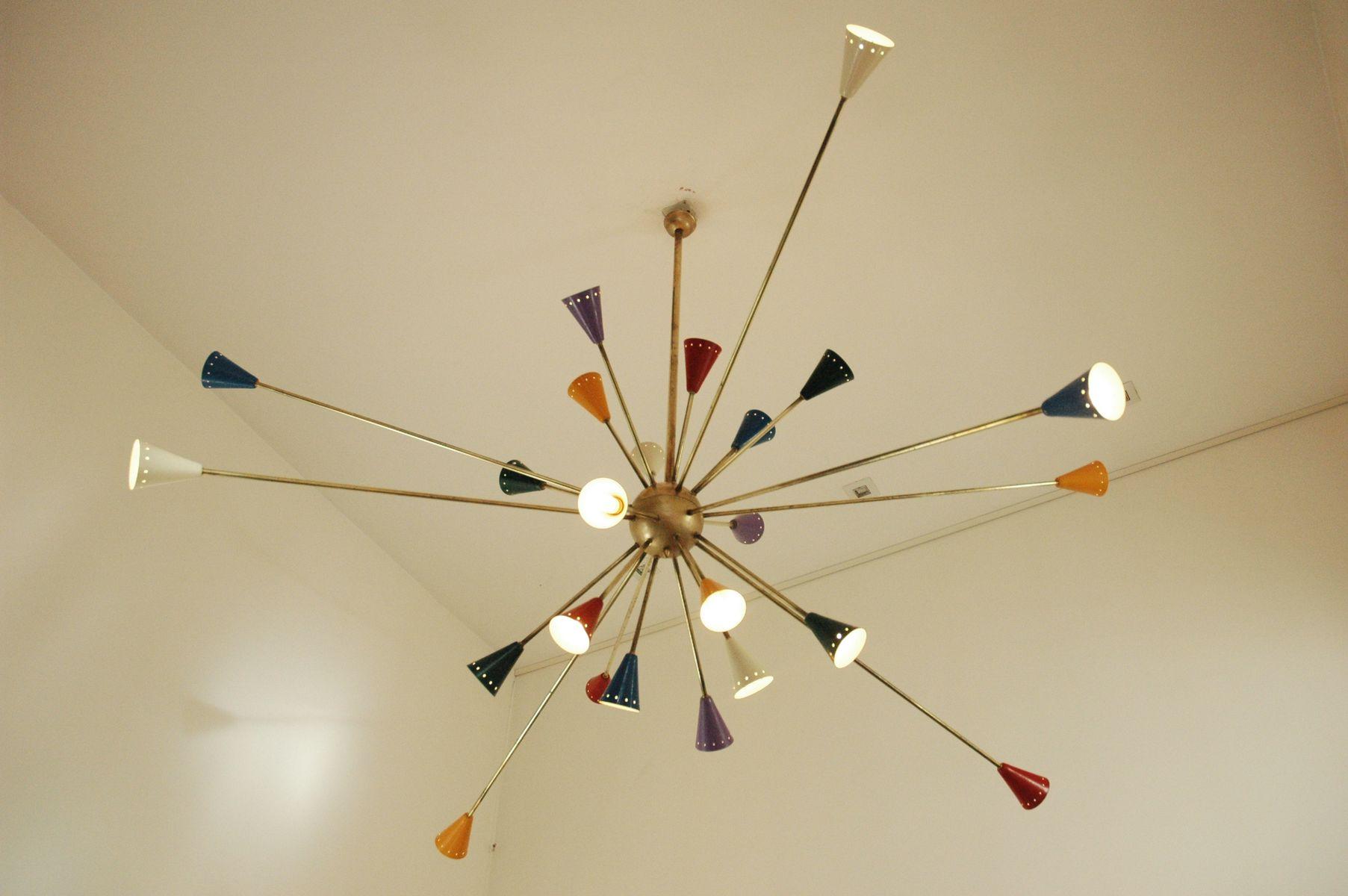 lampadario stilnovo : Gro?er Sputnik Kronleuchter von Stilnovo, 1950er bei Pamono kaufen