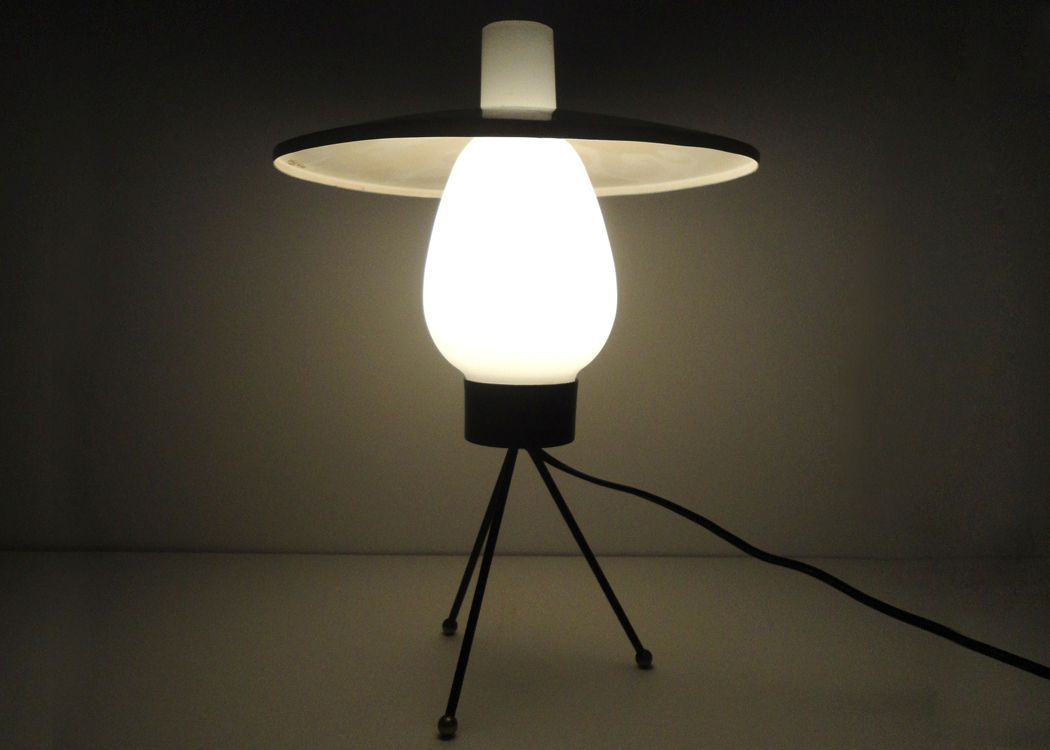Ufo Table Lamp: UFO Table Lamp by Stilux Milano, 1950s,Lighting