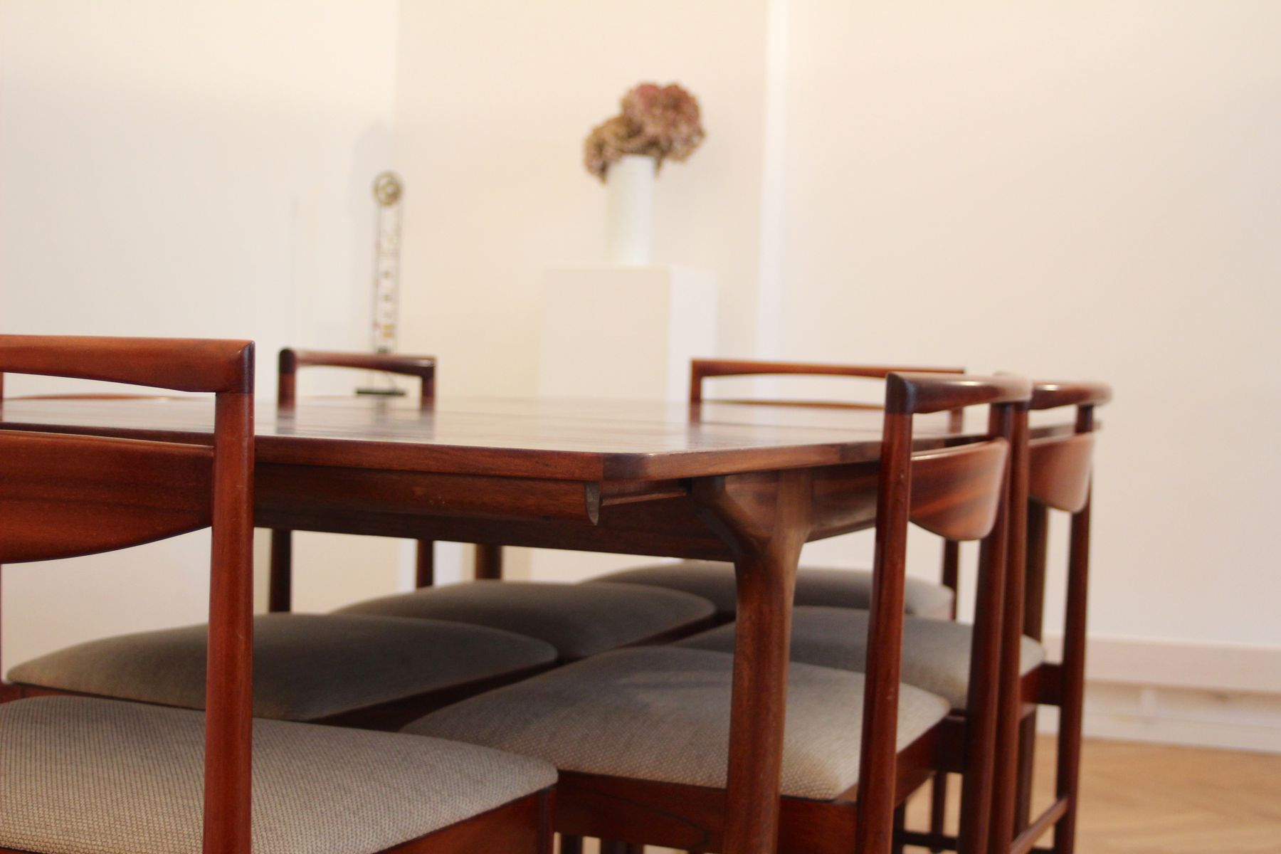 Mid Century Rosewood Dining Table & 4 Chairs by Tom Robertson for