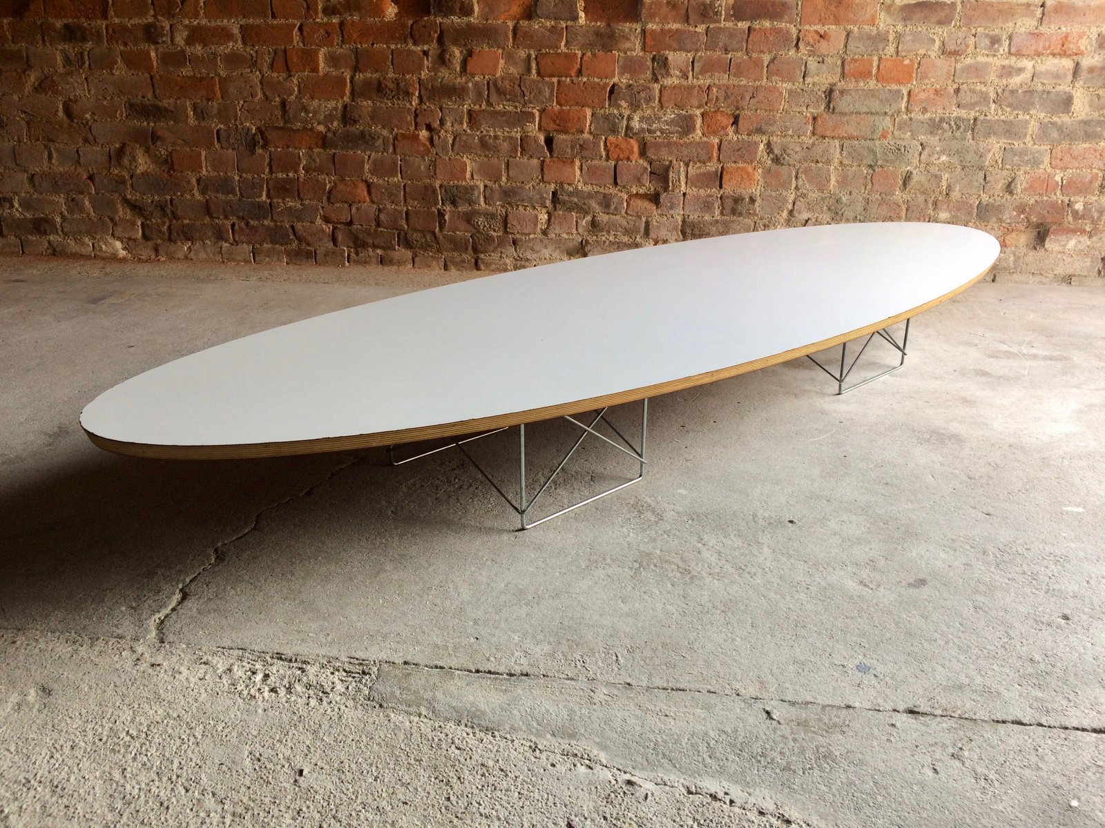 Vintage Elliptical Coffee Table by Charles & Ray Eames for Herman