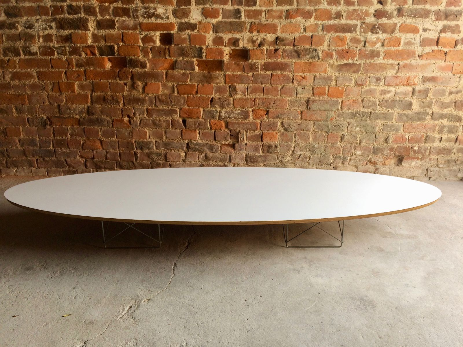 vintage elliptical coffee table by charles ray eames for herman