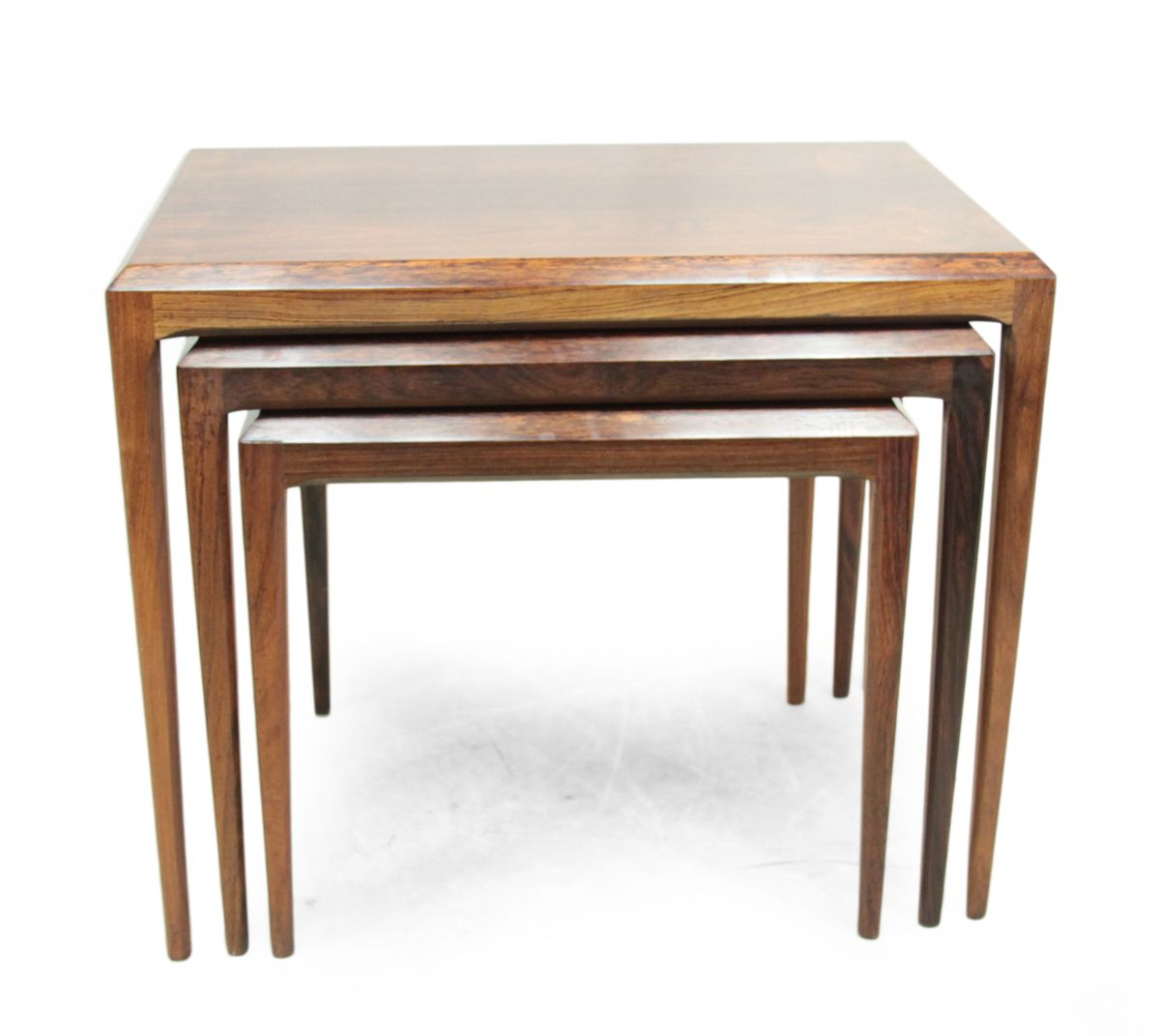 Rosewood Nesting Tables by Johannes Andersen for Silkeborg 1960