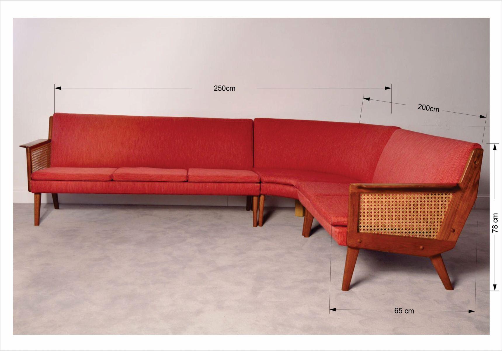 skandinavisches mid century ecksofa bei pamono kaufen. Black Bedroom Furniture Sets. Home Design Ideas