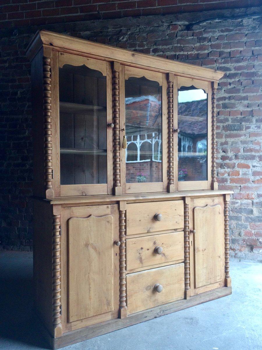 antike vitrine aus kiefernholz 1870er bei pamono kaufen. Black Bedroom Furniture Sets. Home Design Ideas