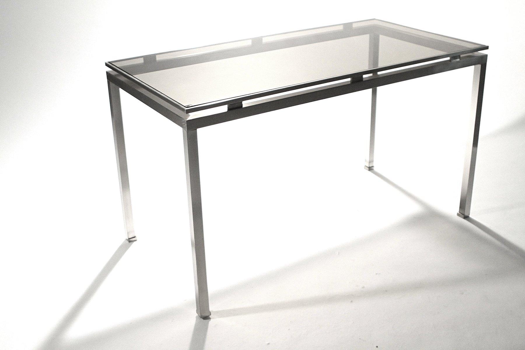 schreibtisch aus geb rstetem metall von guy lef vre f r maison jansen 1970er bei pamono kaufen. Black Bedroom Furniture Sets. Home Design Ideas