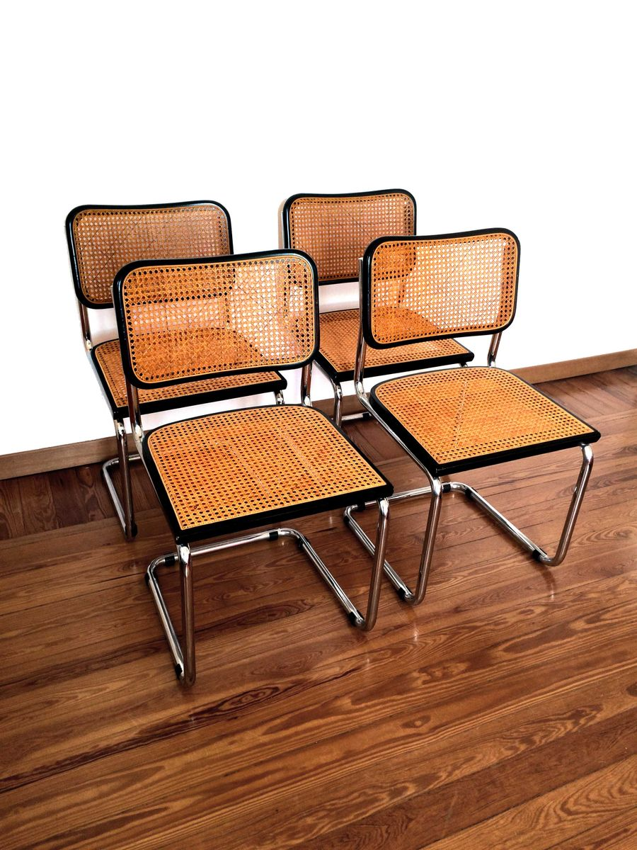 cesca st hle von marcel breuer f r knoll international 1932 4er set bei pamono kaufen. Black Bedroom Furniture Sets. Home Design Ideas