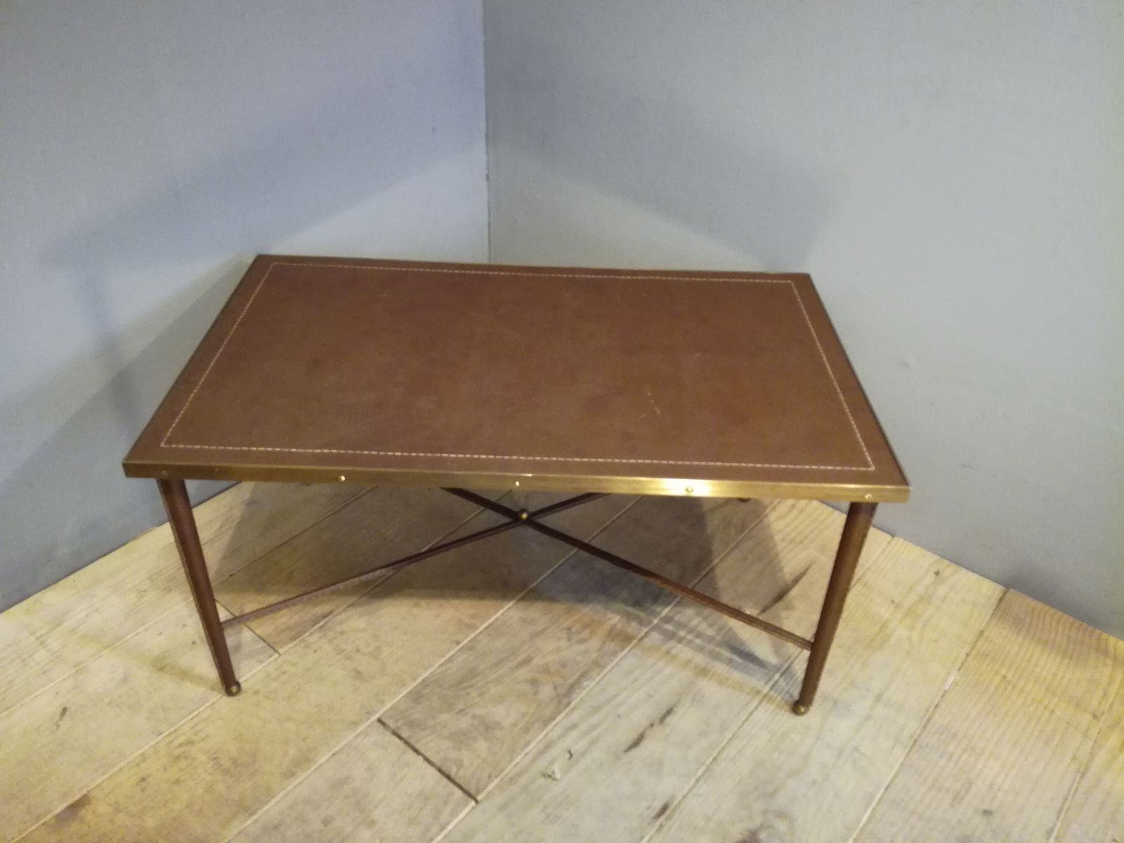Vintage Leather Wrapped Coffee Table For Sale At Pamono