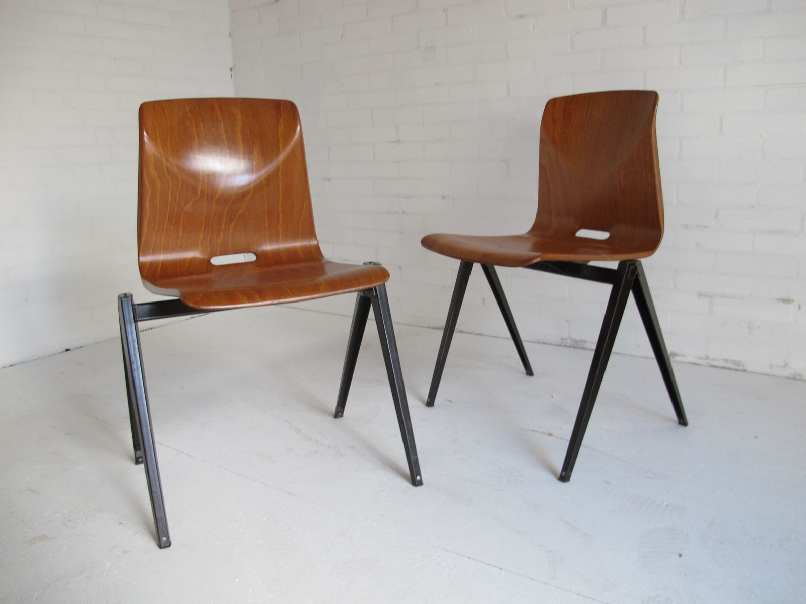 Industrial leather dining chair - Industrial Vintage Dining Chairs From Galvanitas 1967 Set Of 2