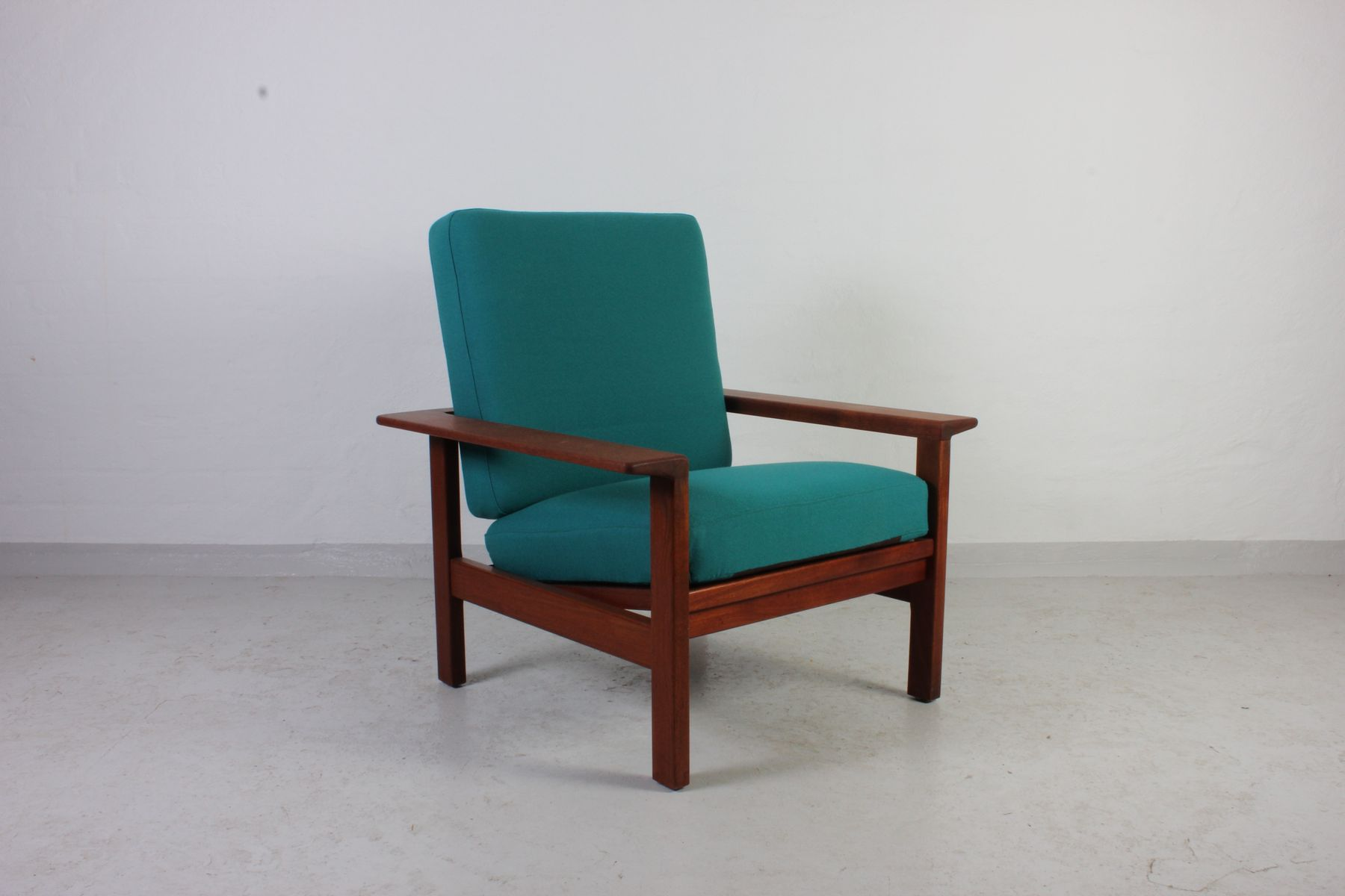 Danish Mid Century Teak Lounge Chair for sale at Pamono