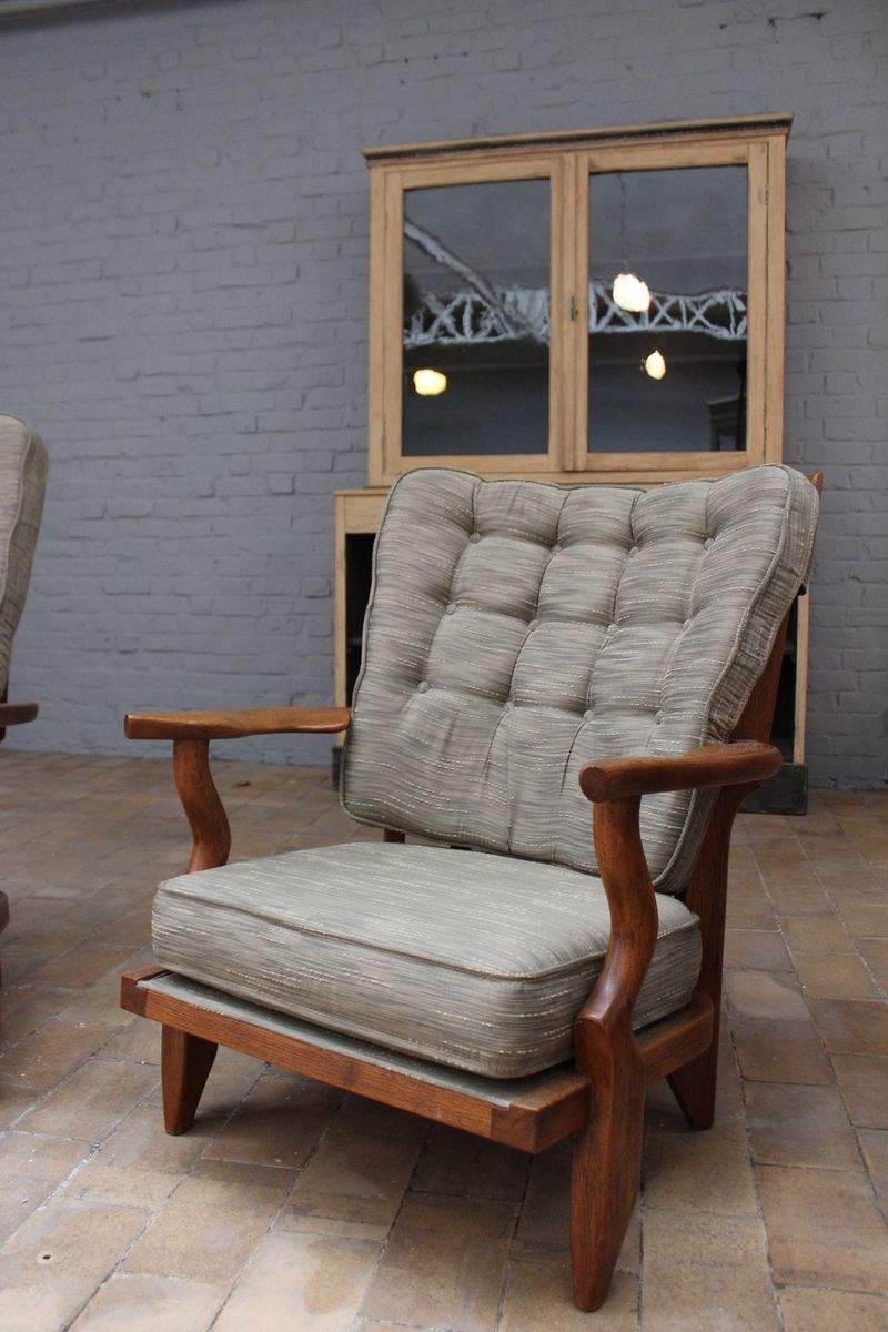 Mid Century Living Room Set By Guillerme Et Chambron For Votre Maison For Sal