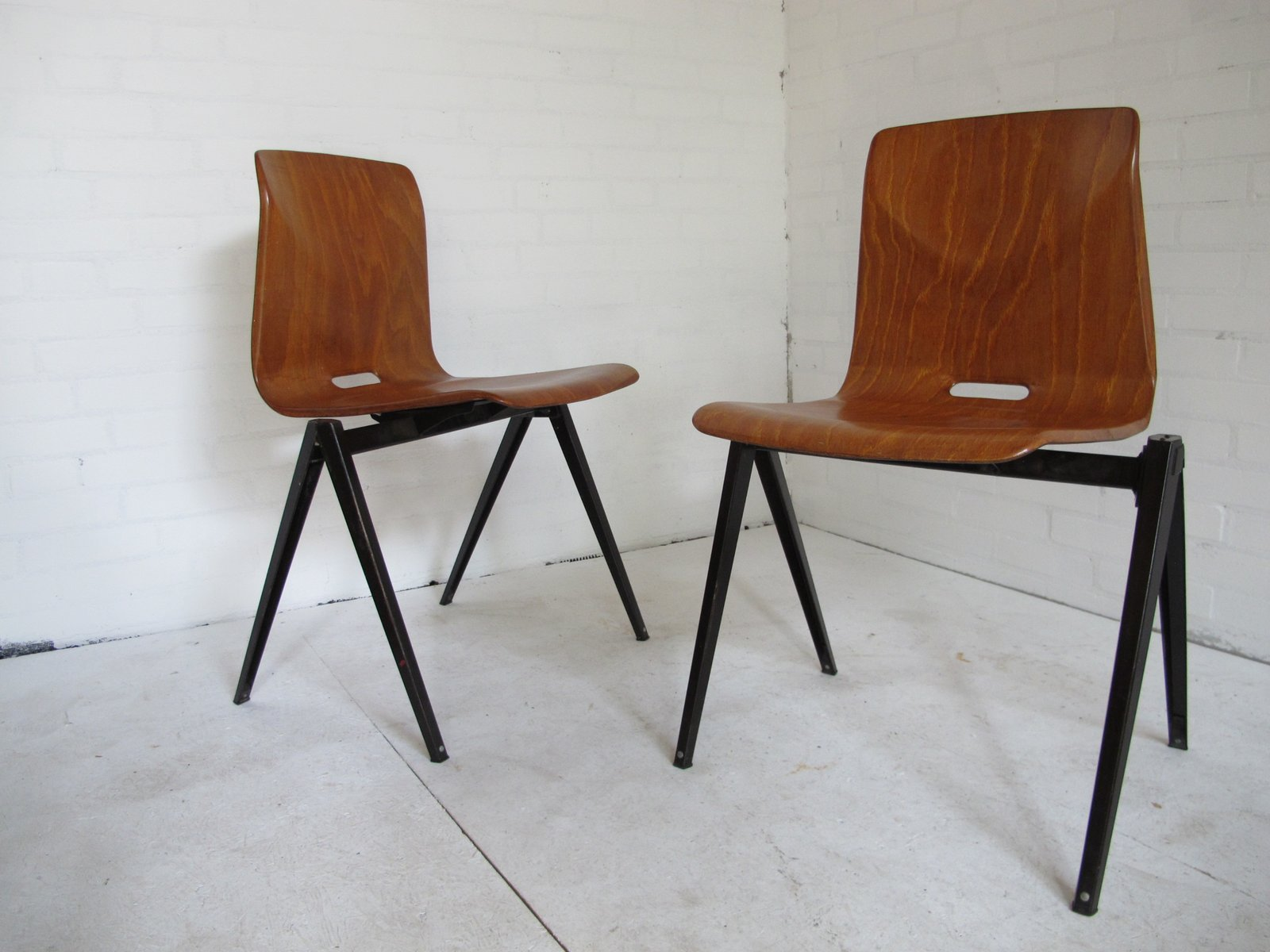 Industrial Vintage Dining Chairs from Galvanitas 1967 Set of 2