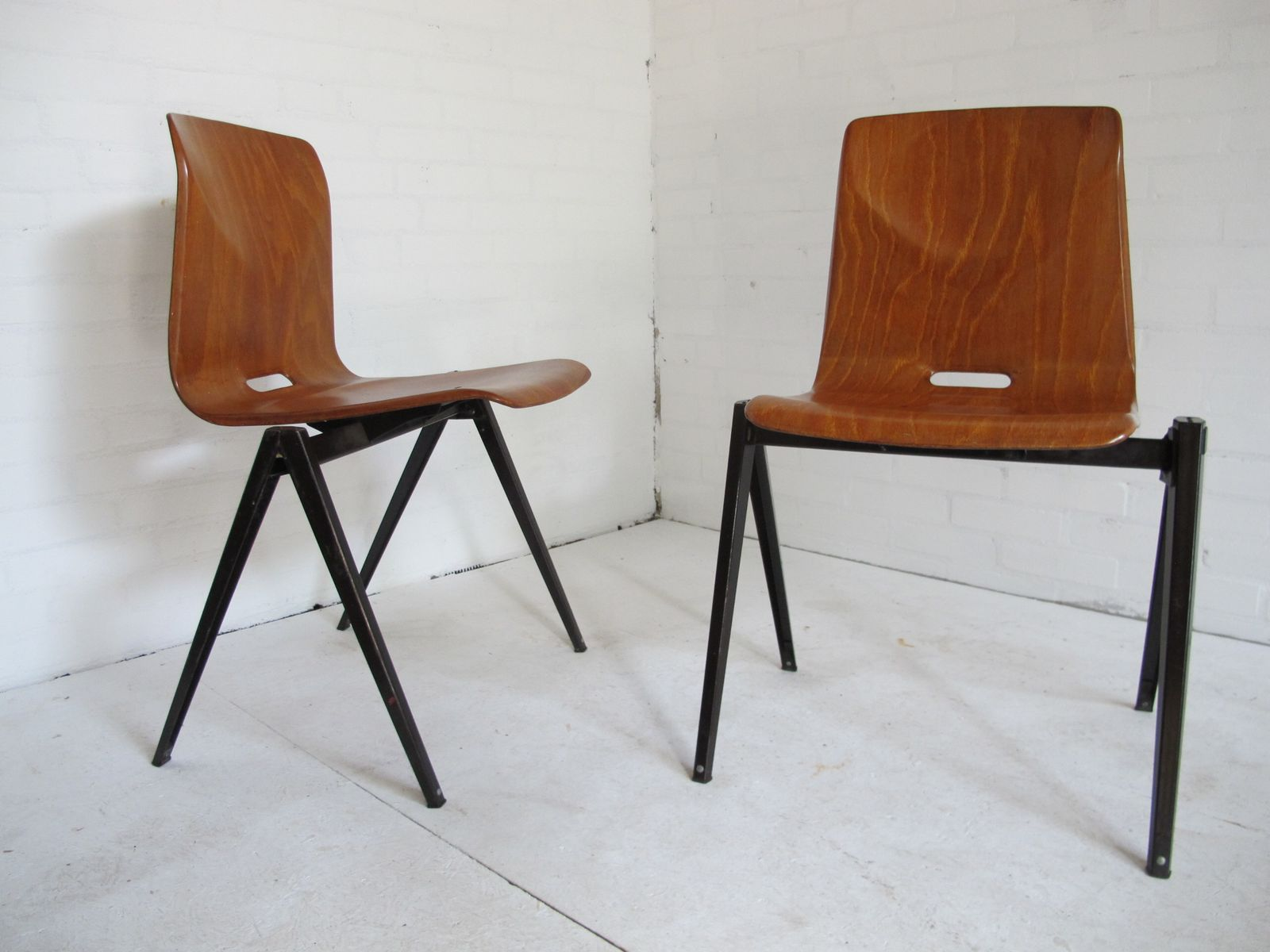 Industrial Vintage Dining Chairs From Galvanitas 1967