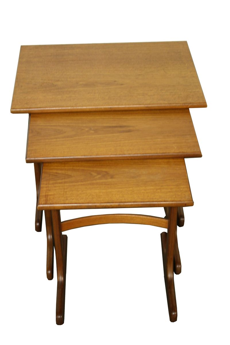 Mid Century British Teak Fresco Nesting Tables From G Plan For Sale At Pamono