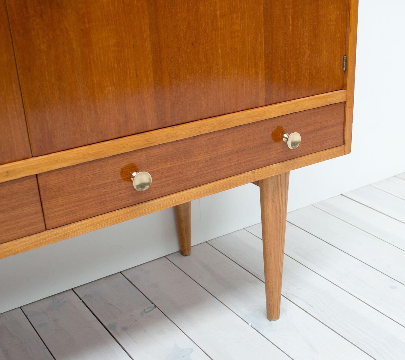 Oak Indian Laurel Sideboard By Gordon Russell 1950s For