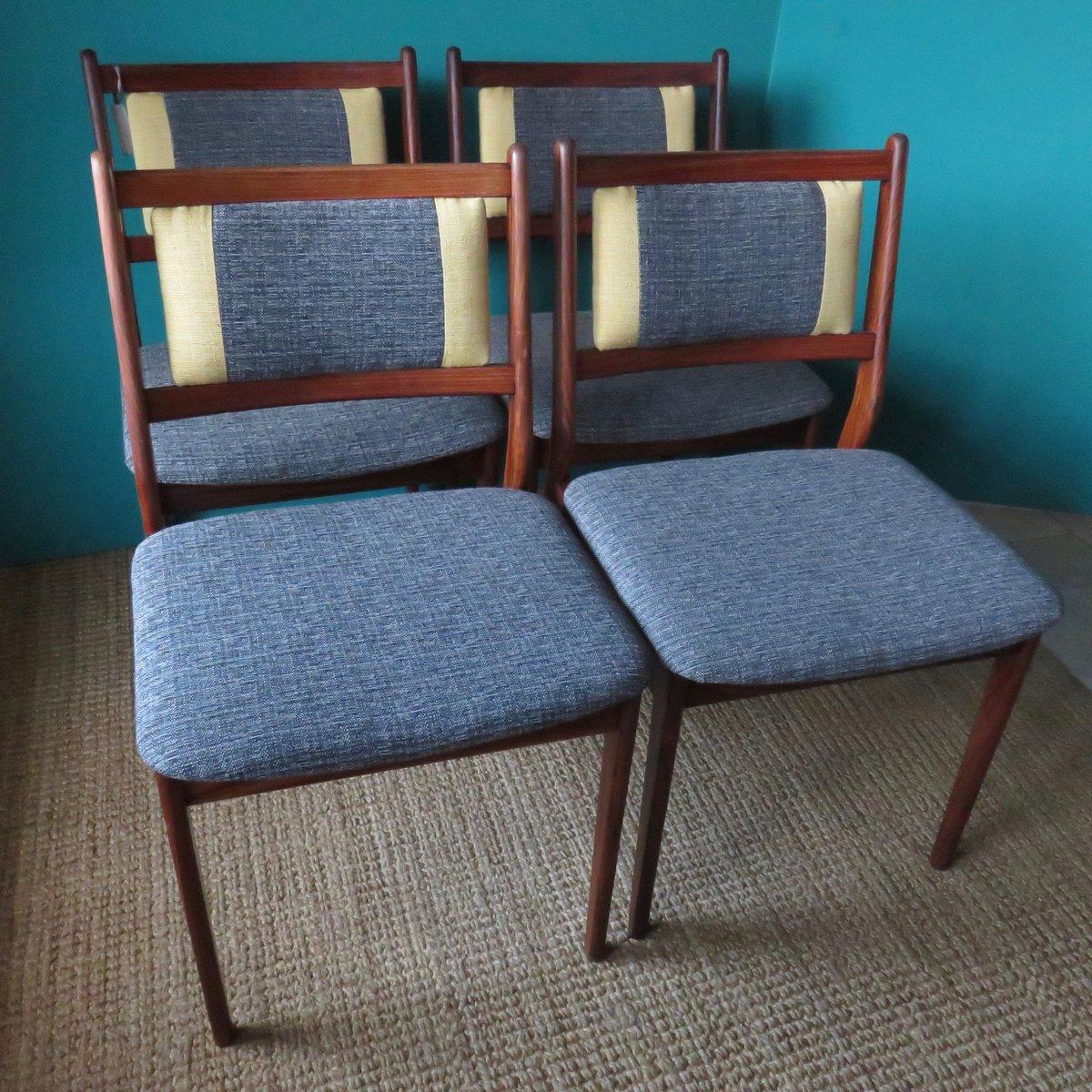 palisander st hle 1960er 4er set bei pamono kaufen. Black Bedroom Furniture Sets. Home Design Ideas