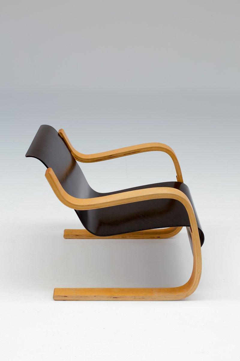 Vintage model 31 armchair by alvar aalto for finmar for Chaise alvar aalto