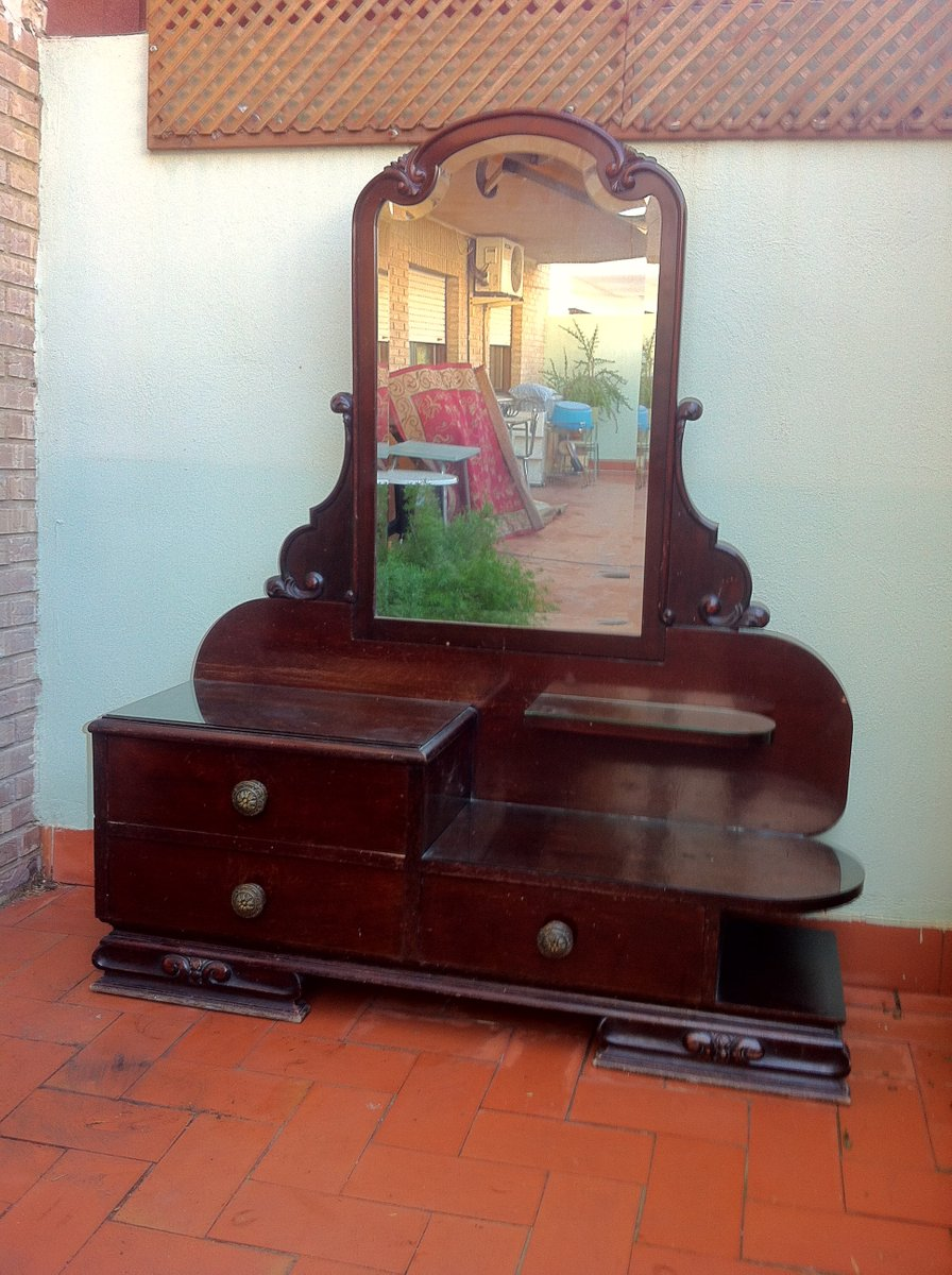 spanish art deco dressing table 1940s for sale at pamono. Black Bedroom Furniture Sets. Home Design Ideas