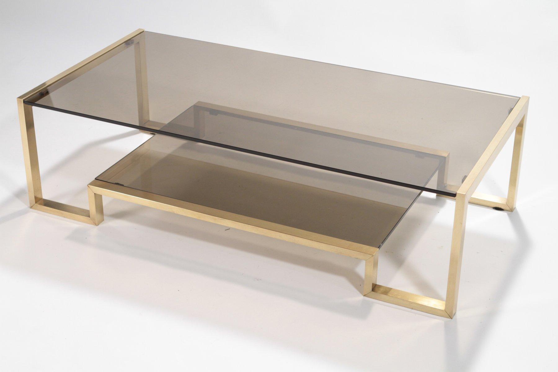 brass coffee tableromeo rega, 1970s for sale at pamono