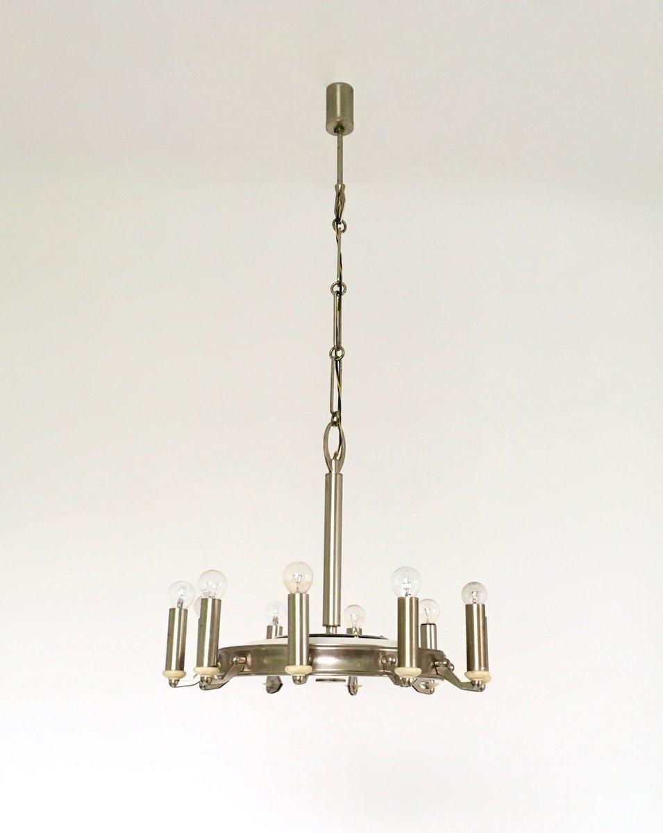 italienischer metall kronleuchter 1950er bei pamono kaufen. Black Bedroom Furniture Sets. Home Design Ideas