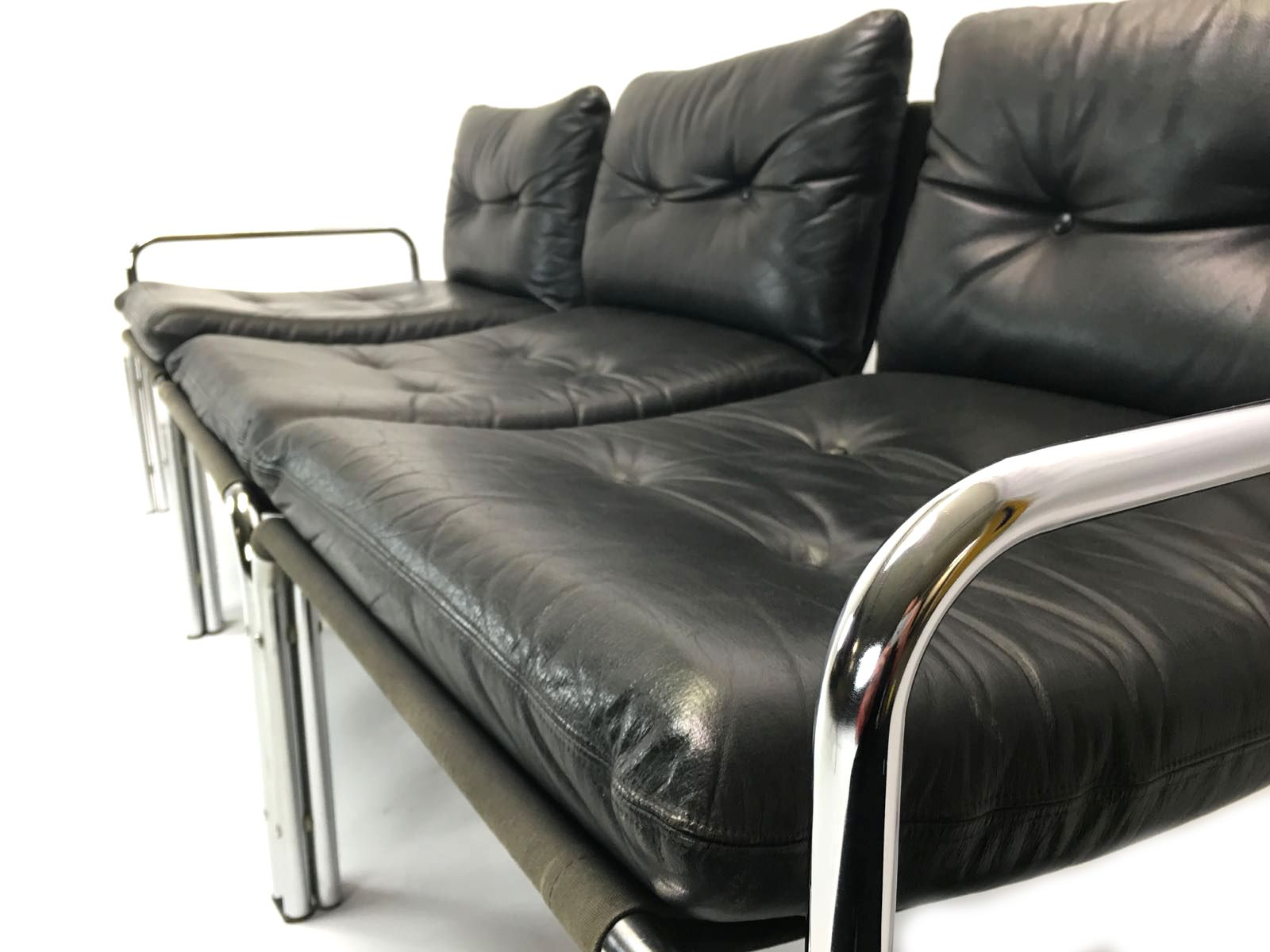 Leather Modular Sofa By Wim Ypma For Riemersma 1970s For Sale At Pamono