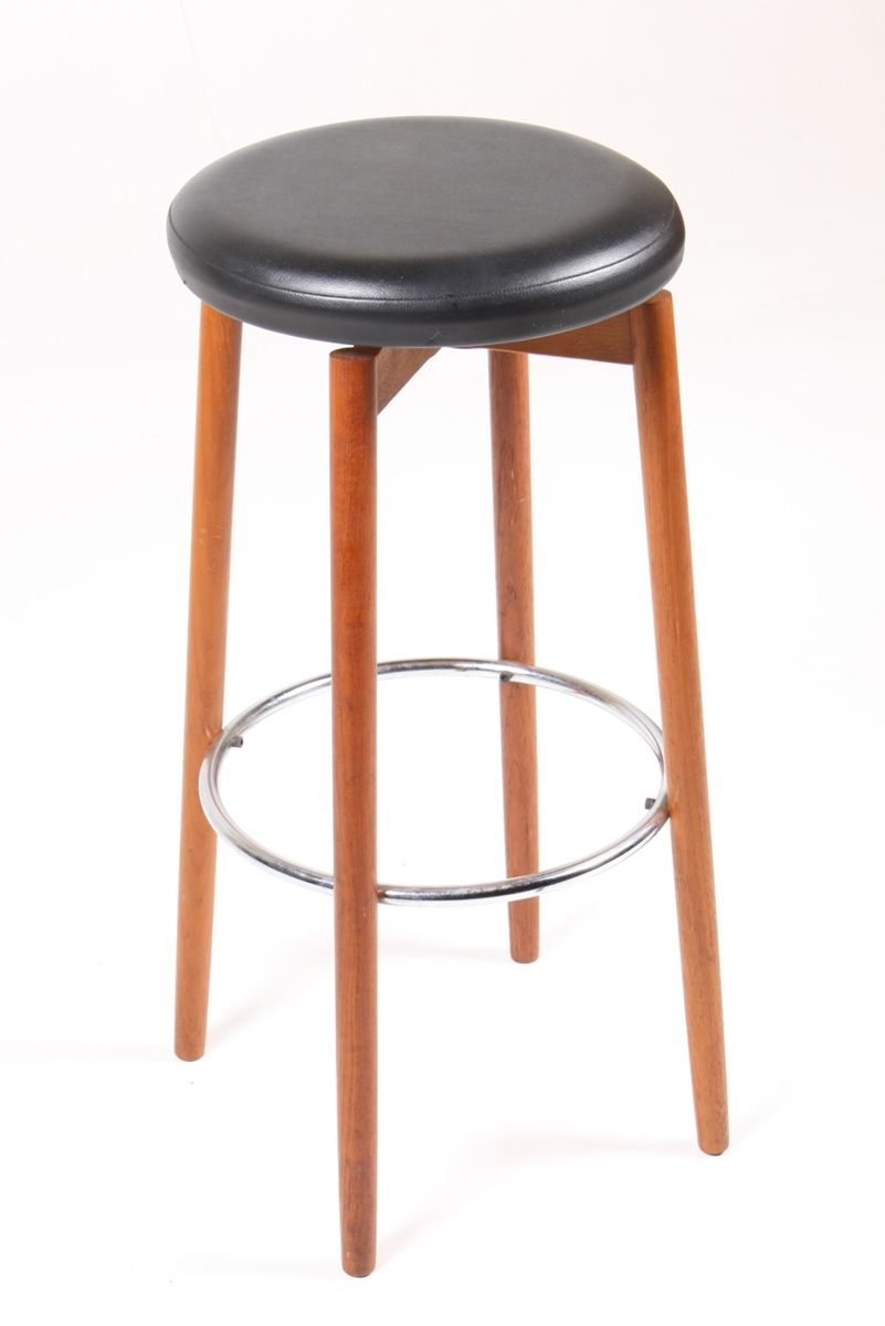 Danish Mid Century Teak Bar Stools 1960s Set Of 3 For