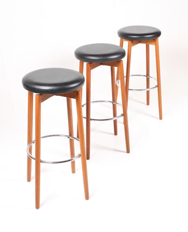 Danish Mid Century Teak Bar Stools 1960s Set of 3 for  : danish mid century teak bar stools 1960s set of 3 1 from www.pamono.com.au size 960 x 1186 jpeg 96kB