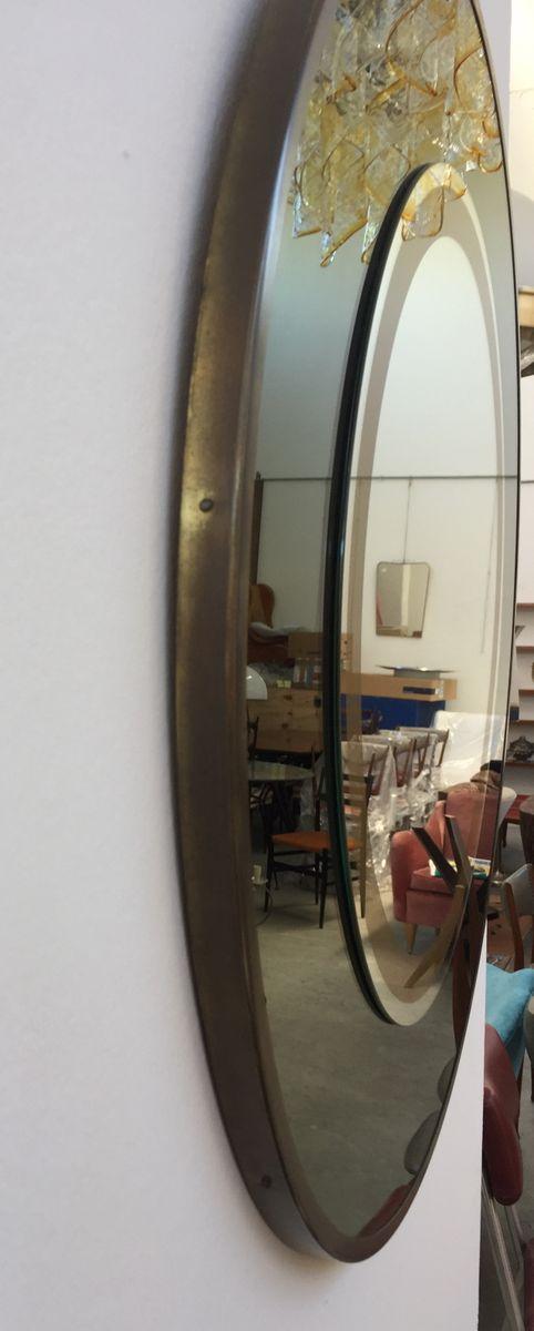 miroir mural rond vintage italie en vente sur pamono. Black Bedroom Furniture Sets. Home Design Ideas