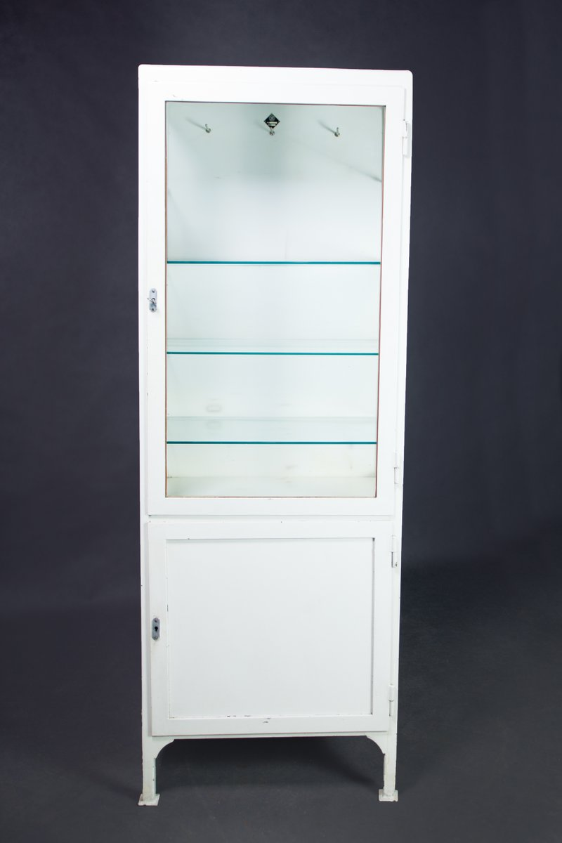 White metal polish medical cabinet 1950s for sale at pamono for White cabinets for sale