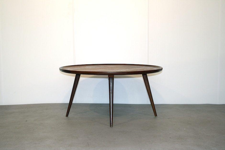 Vintage Round Teak Coffee Table For Sale At Pamono