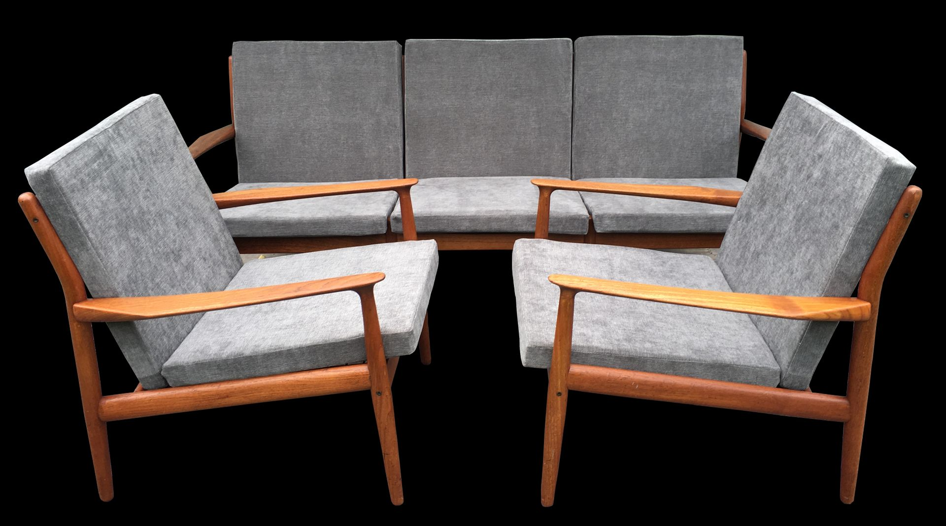 Teak Sofa Armchairs By Greta Jalk 1960s For Sale At Pamono