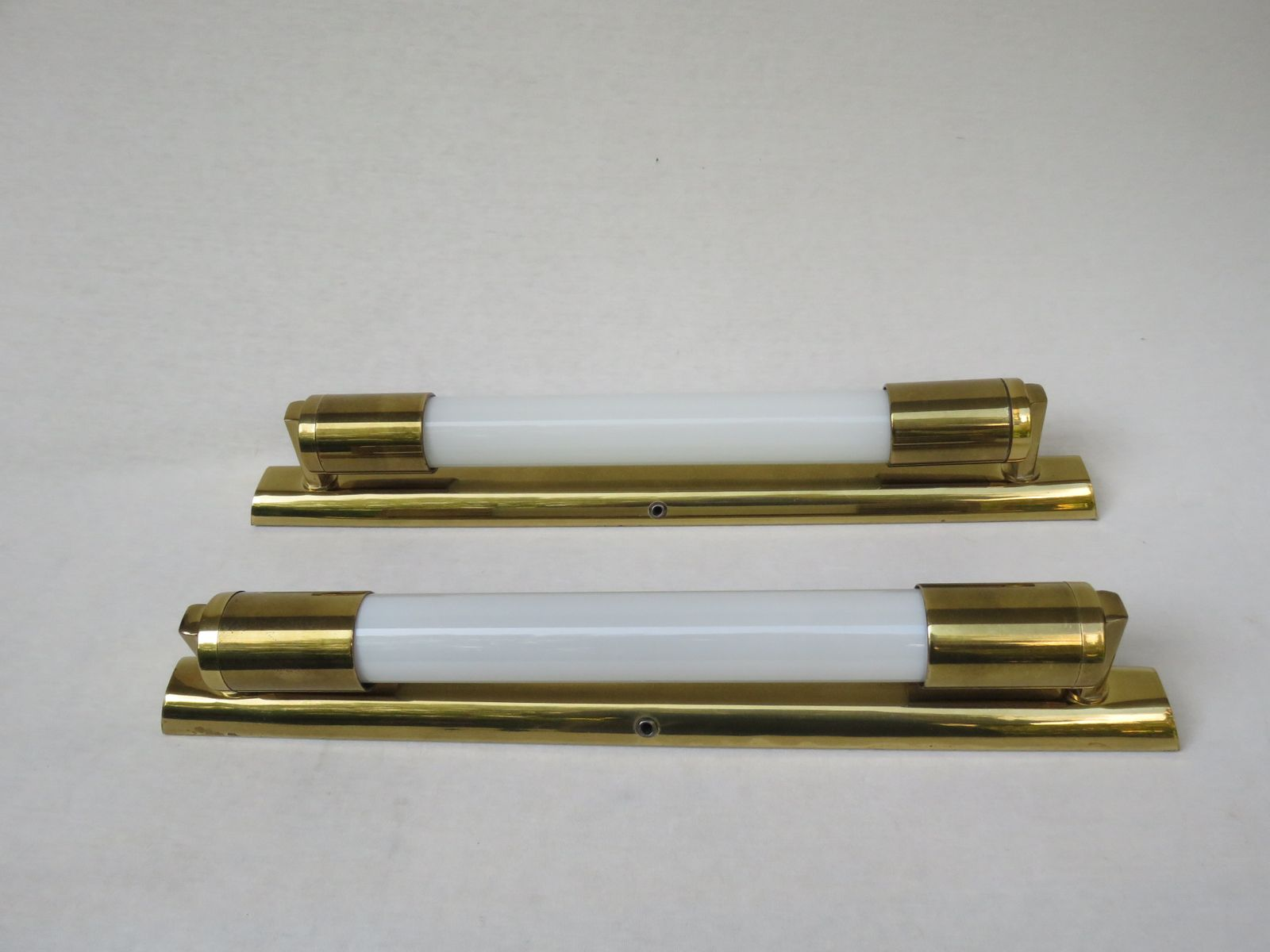 Brass Wall Lights, Set of 2 for sale at Pamono
