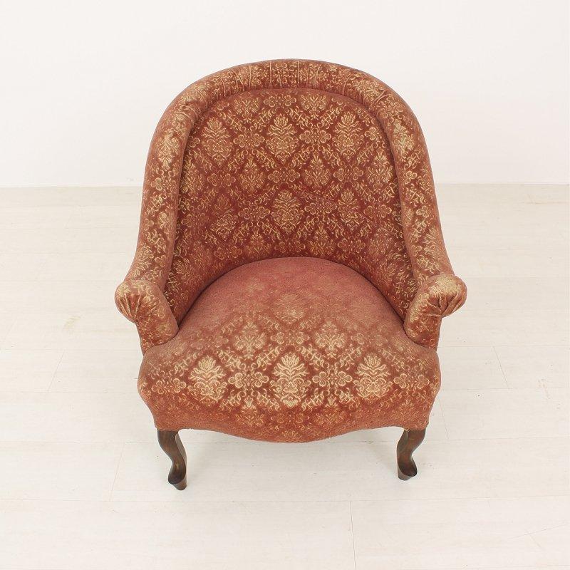 antiker voltaire sessel 1870er bei pamono kaufen. Black Bedroom Furniture Sets. Home Design Ideas