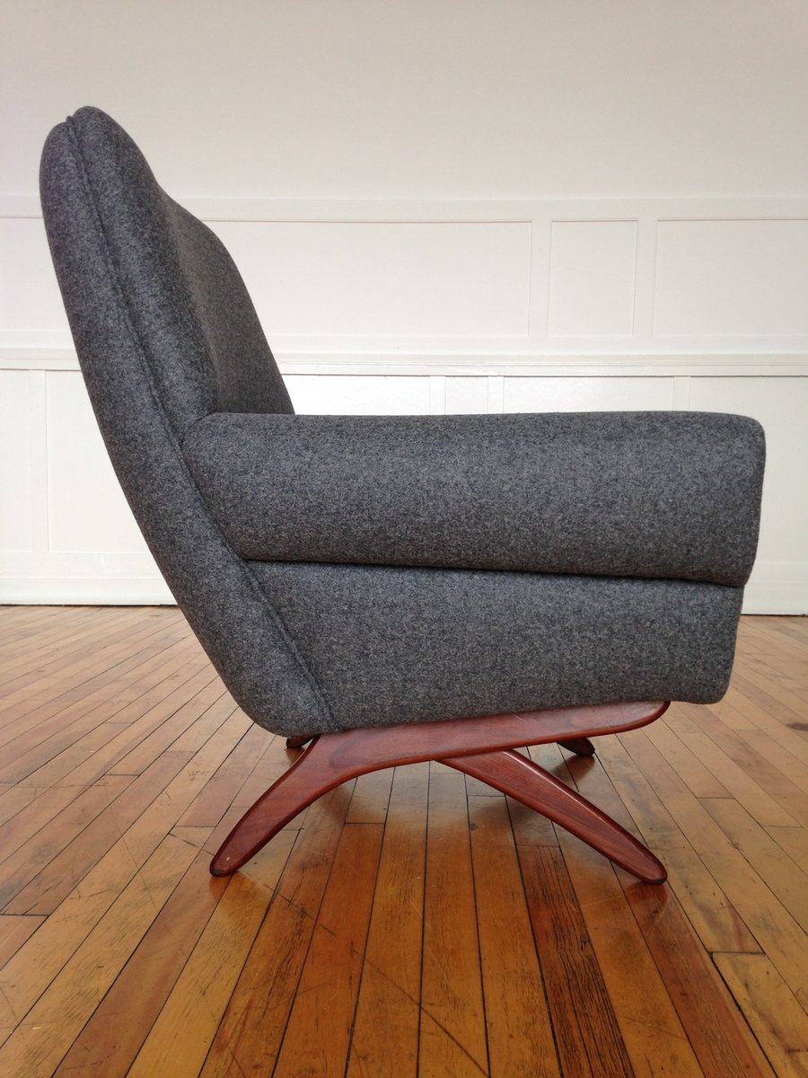 d nischer mid century teakholz sessel bei pamono kaufen. Black Bedroom Furniture Sets. Home Design Ideas