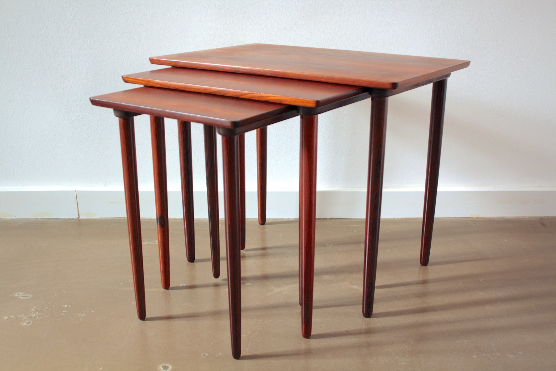 danish rosewood nest of tables 1960s for sale at pamono. Black Bedroom Furniture Sets. Home Design Ideas