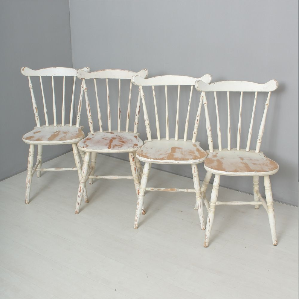 Antique Farmhouse Chairs Set of 4 for sale at Pamono