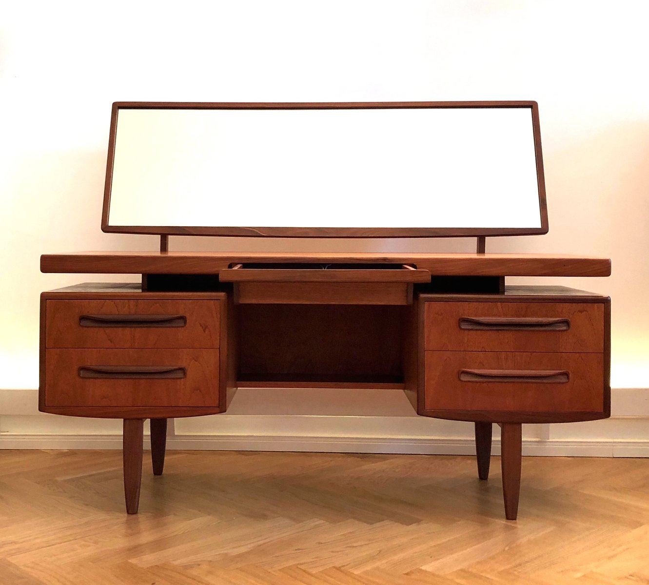 Mid Century Fresco Dressing Table Or Ladies Desk With