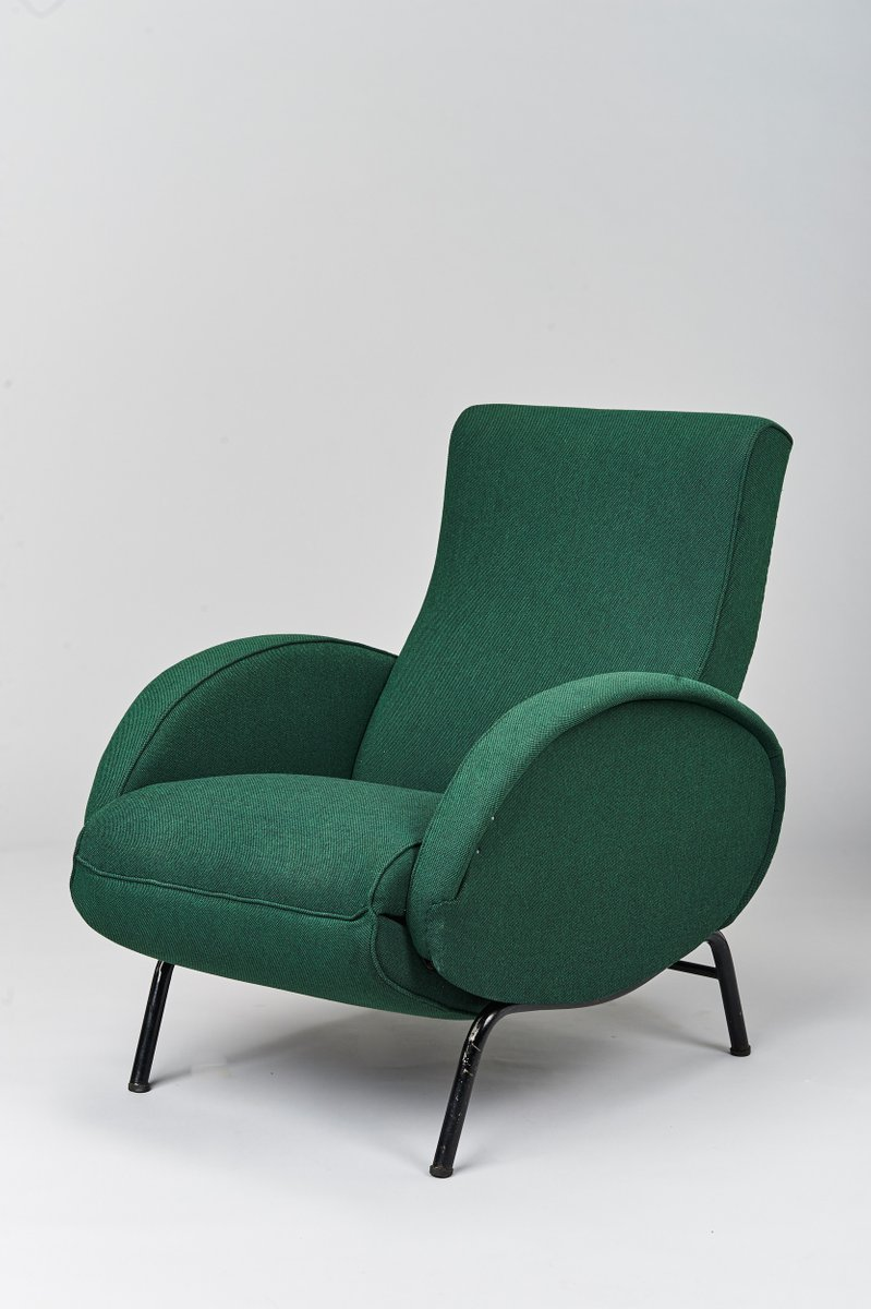 italian reclining armchair by nino zoncada 1950s for sale at pamono. Black Bedroom Furniture Sets. Home Design Ideas