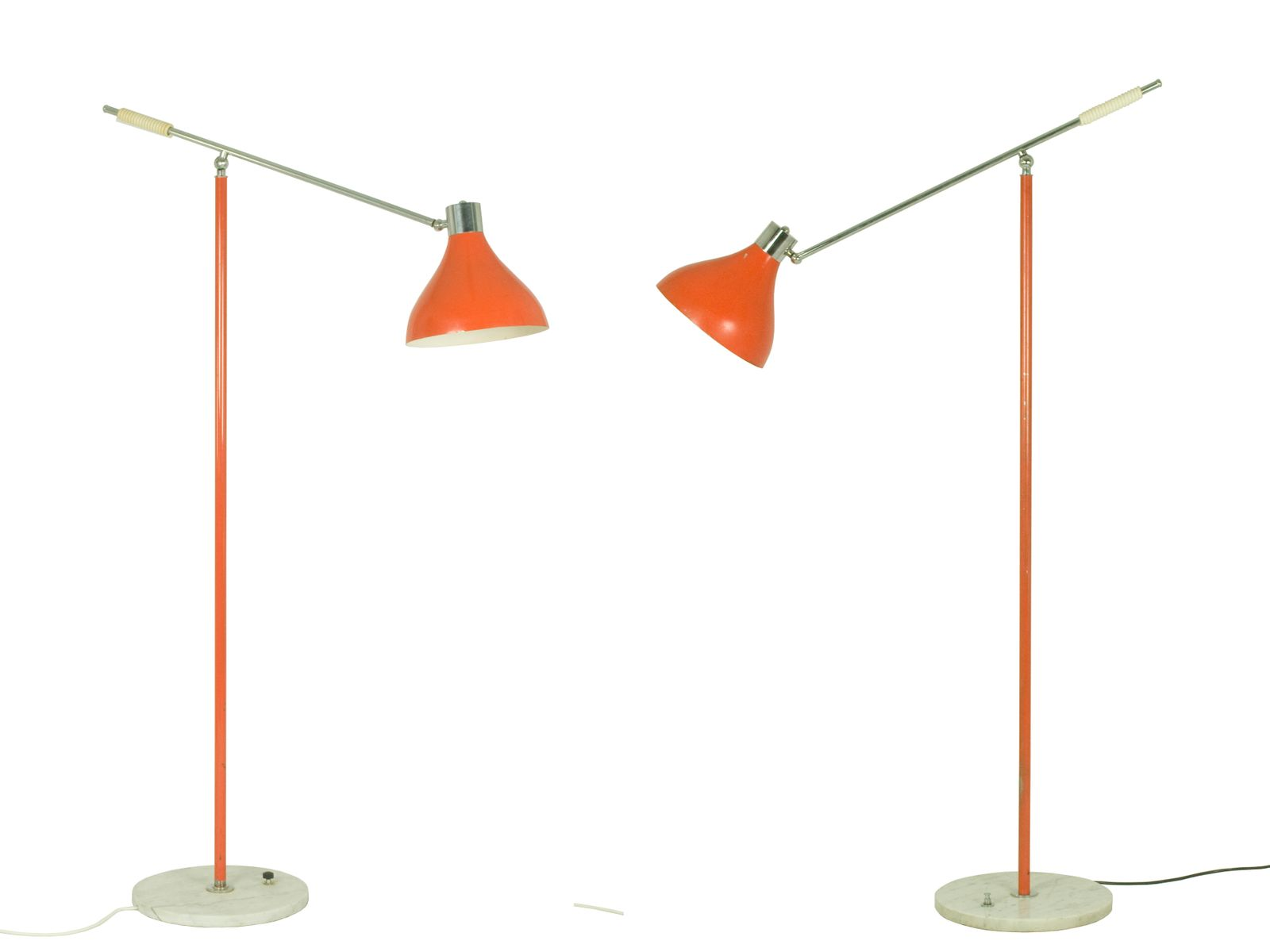 Italian Articulated Floor Lamps from Stilux Milano 1960s Set of