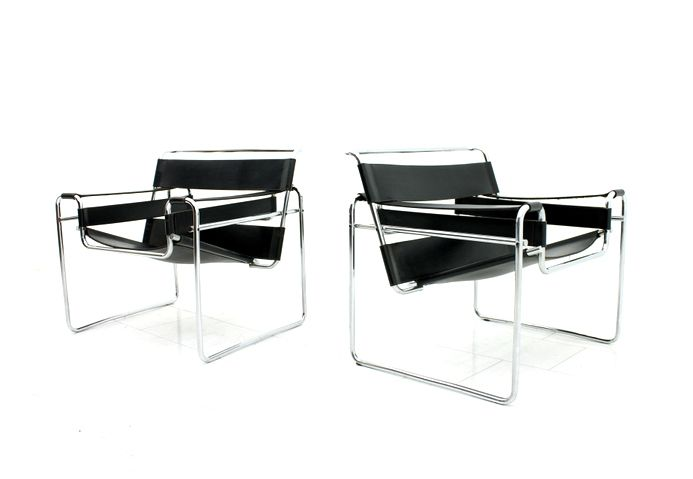 b3 wassily st hle von marcel breuer f r knoll. Black Bedroom Furniture Sets. Home Design Ideas