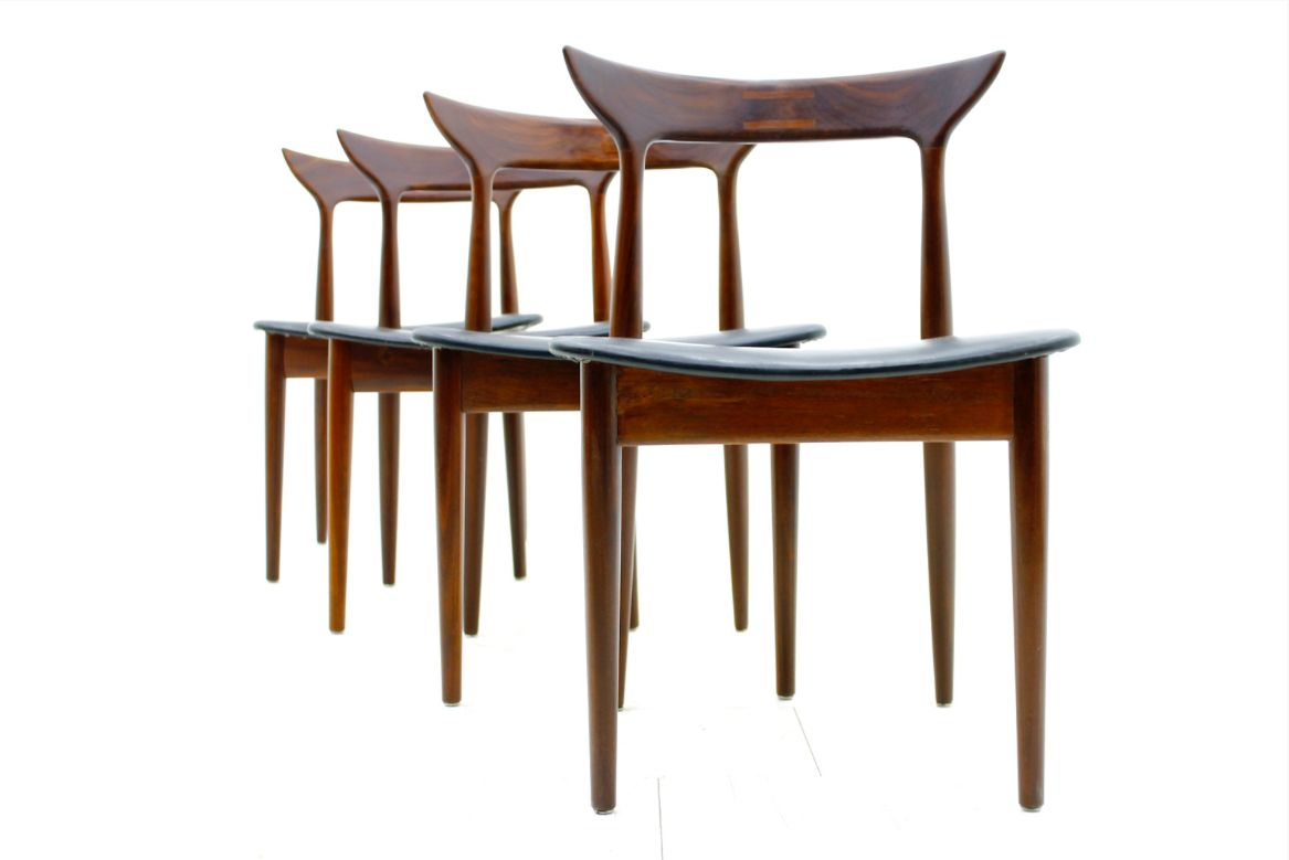 and leather dining room chairs 1960s set of 4 for sale at pamono