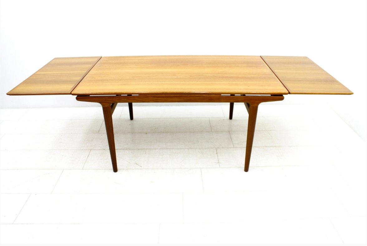 Teak Dining Table By Johannes Andersen For Uldum M Belfabrik 1960s For Sale