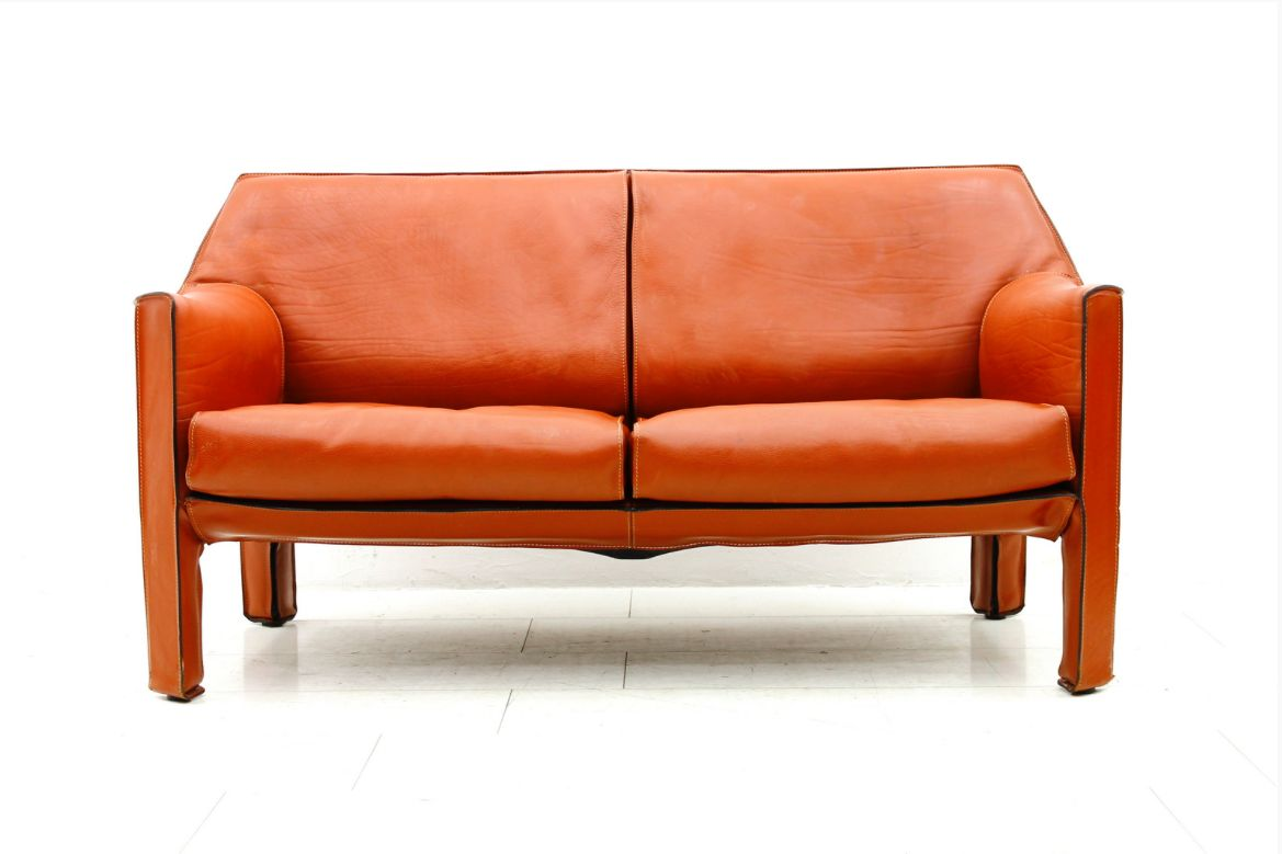 CAB Two Seater Sofa By Mario Bellini For Cassina 1987
